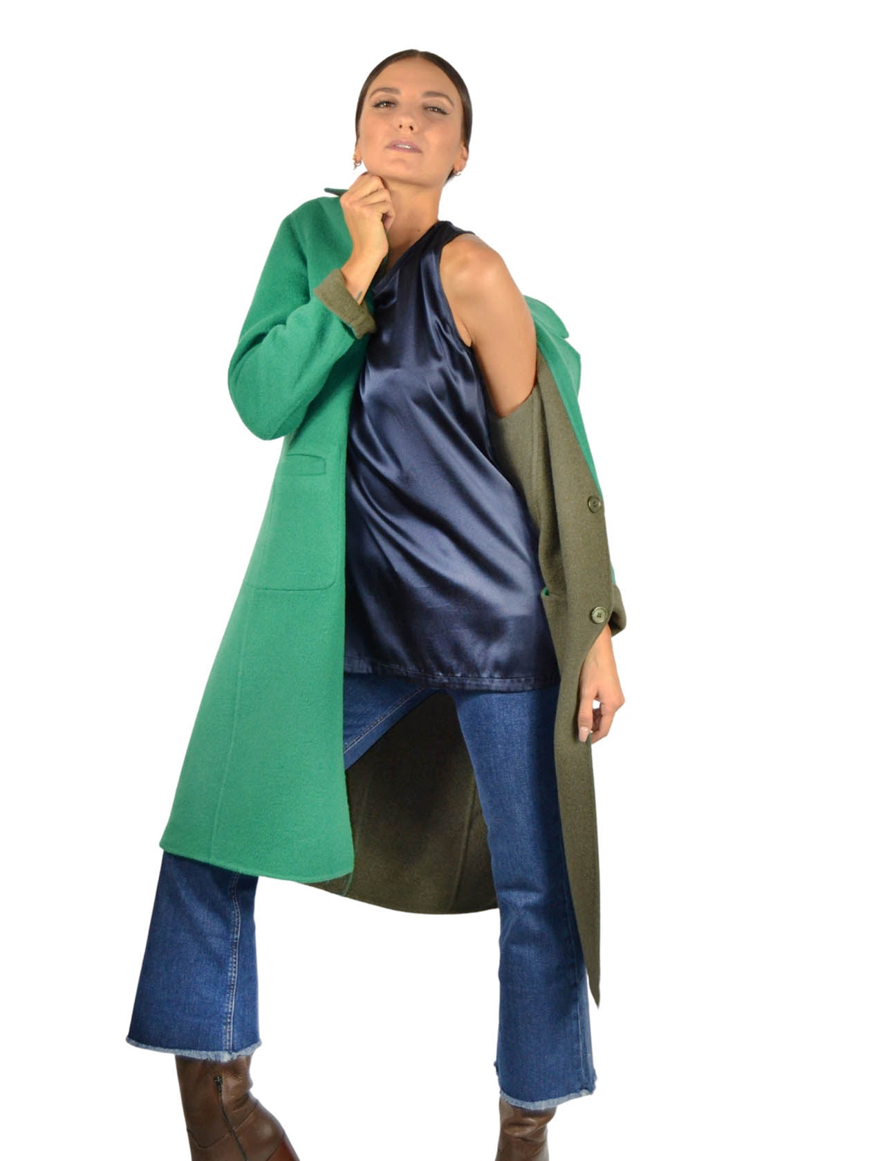 Women's Green Coat Maliparmi | Coats and jackets | JB53072018260D60