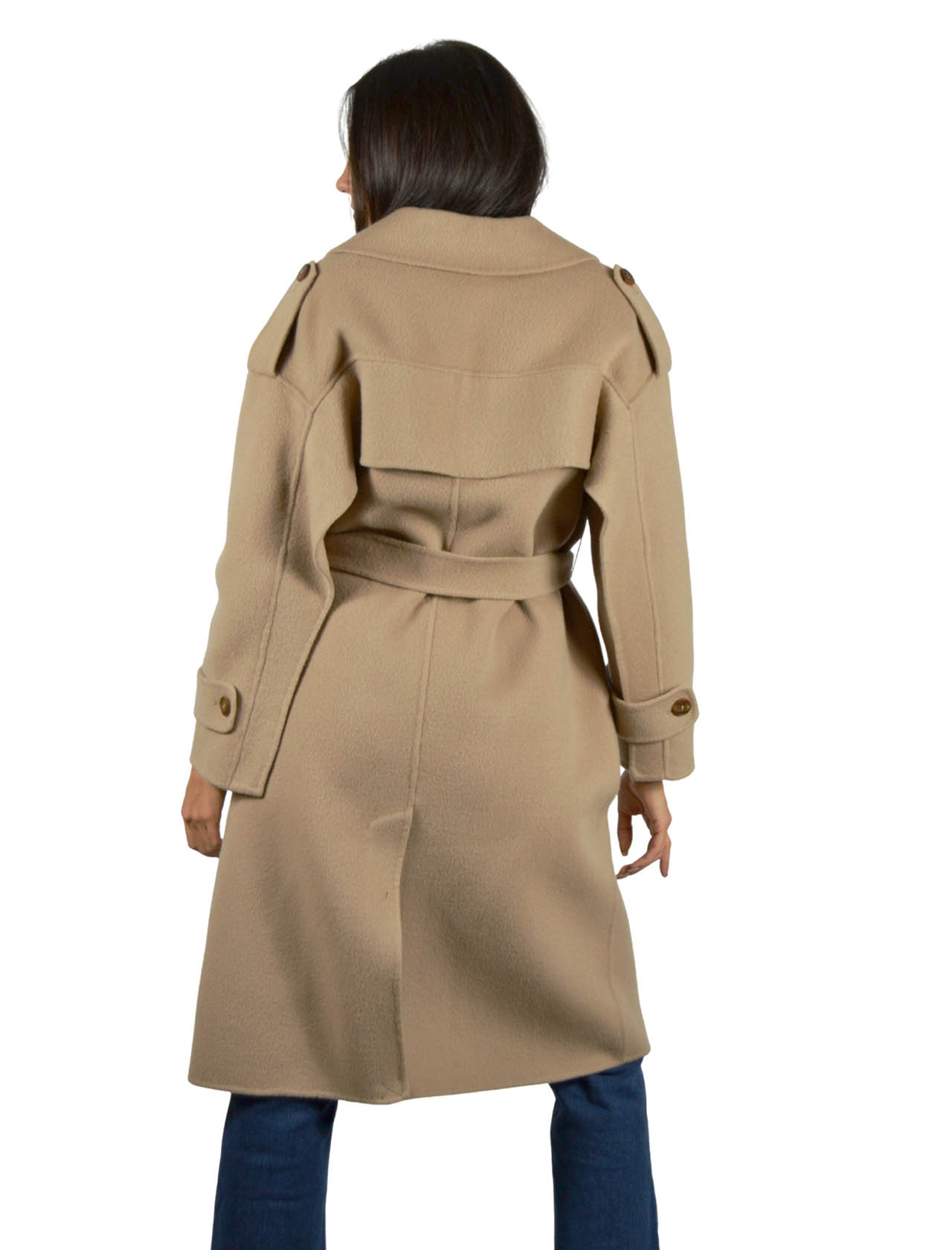Camel Woman Coat Maliparmi | Coats and jackets | JB53082018411024