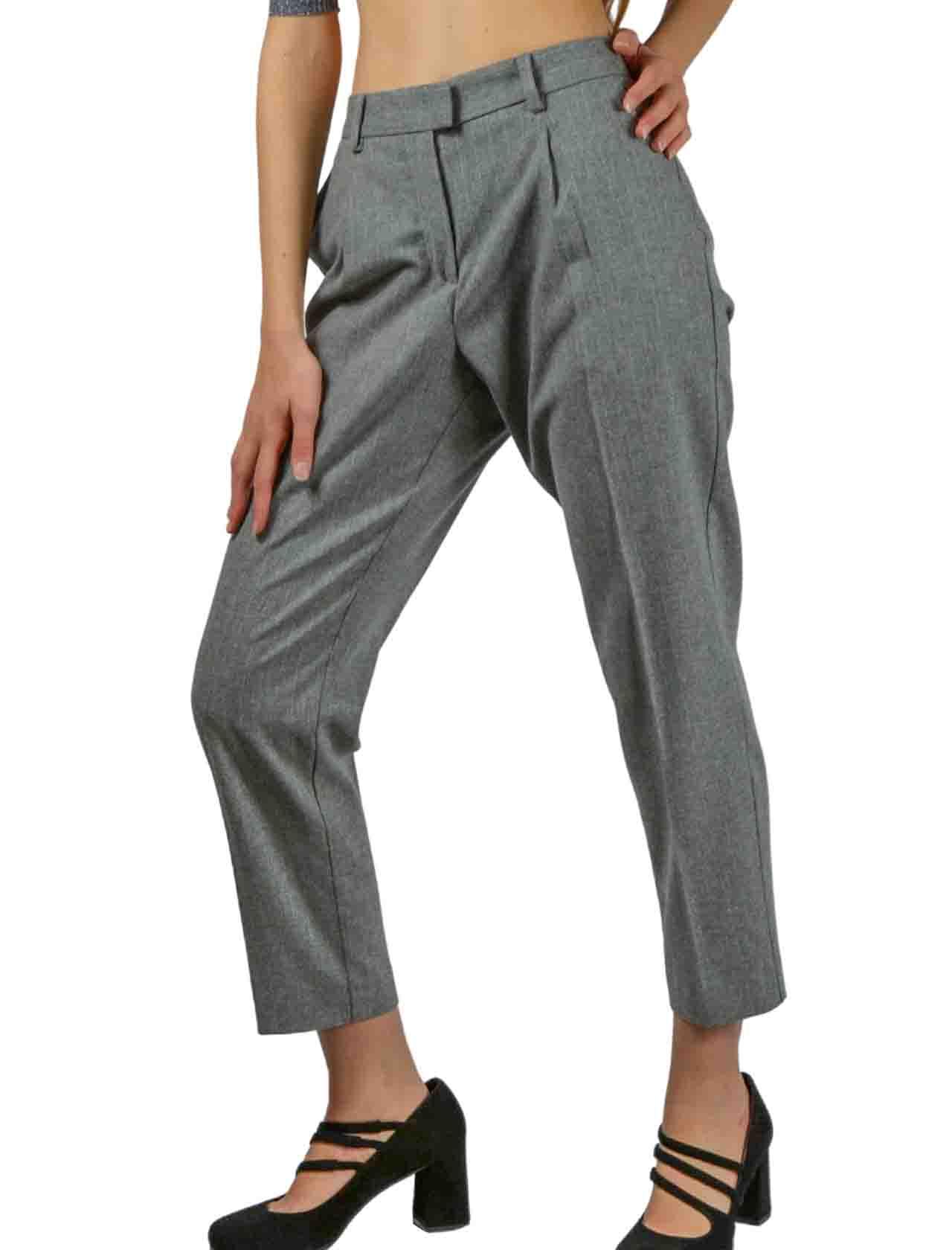 Pantalone Donna Grigio Maliparmi | Gonne e Pantaloni | JH70532018721011