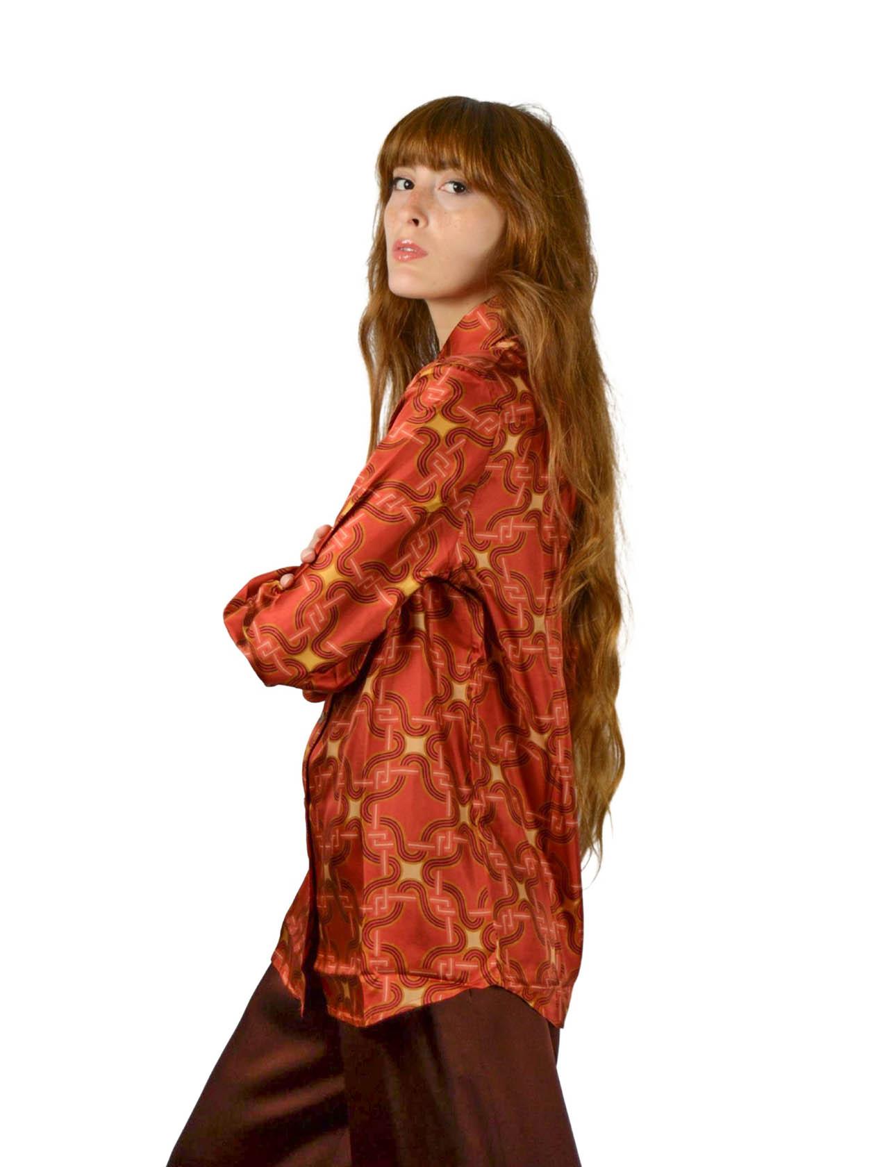 Camicia Donna Arancio Maliparmi | Camicie e Top | JM214430107A3082