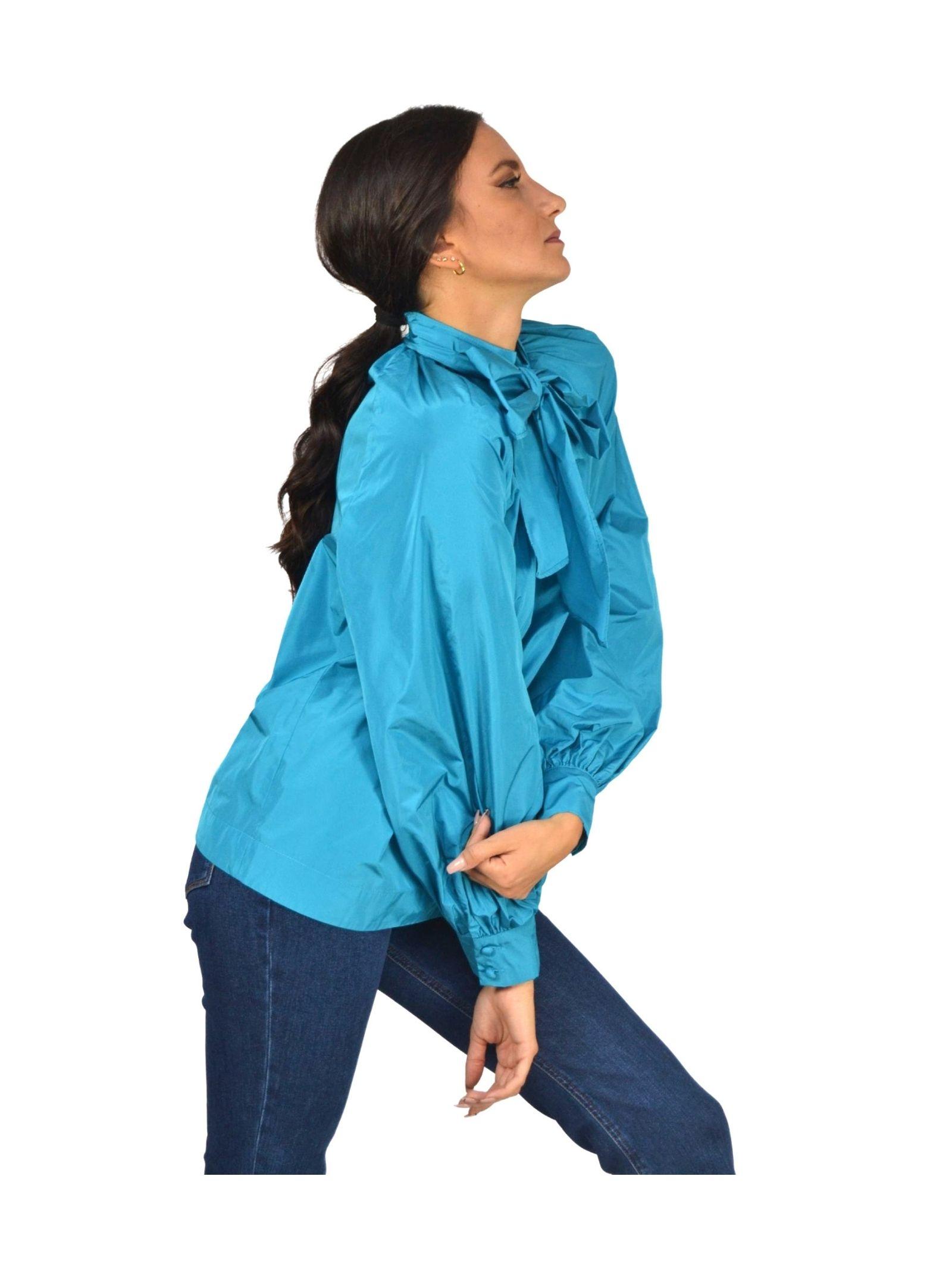 Turquoise Woman Shirt Maliparmi   Shirts and tops   JM45036003682009