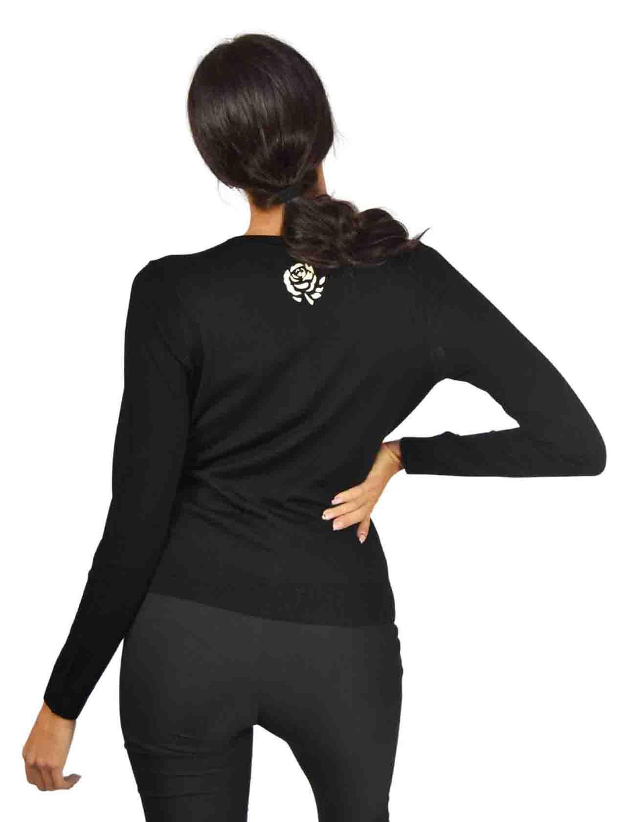 Short Cardigan Woman Black Maliparmi | Knitwear | JN22837423020000