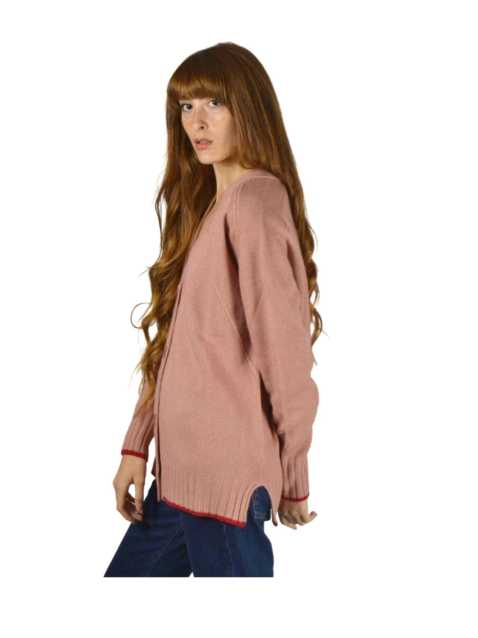 Women's Pink Cardigan Maliparmi | Knitwear | JN35477431532008