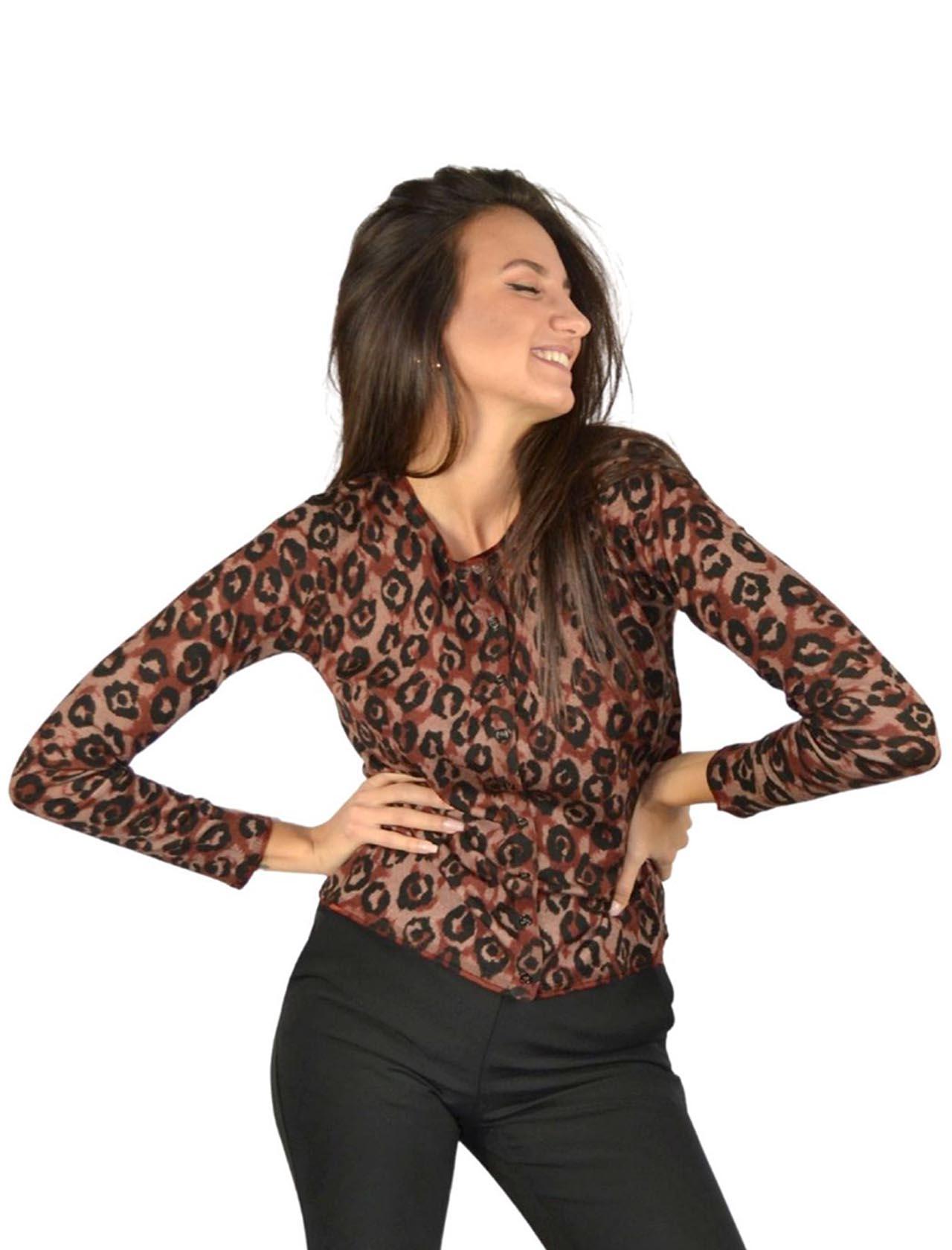 Leo Brown Women's Cardigan Maliparmi | Knitwear | JN355070477A3333