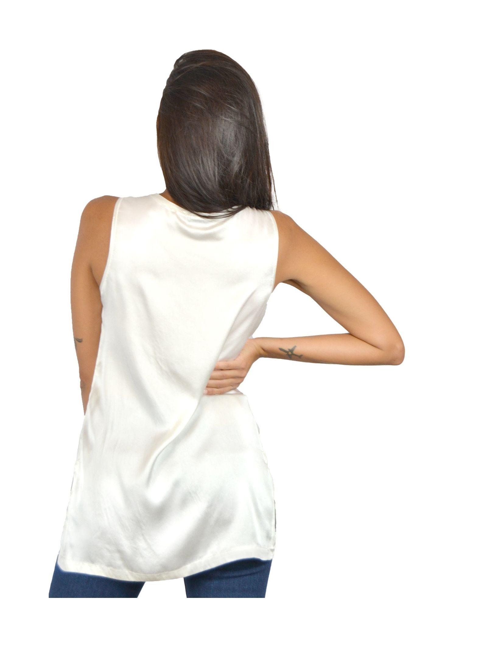 Canotta Donna Bianco Maliparmi | Camicie e Top | JP50793102110001
