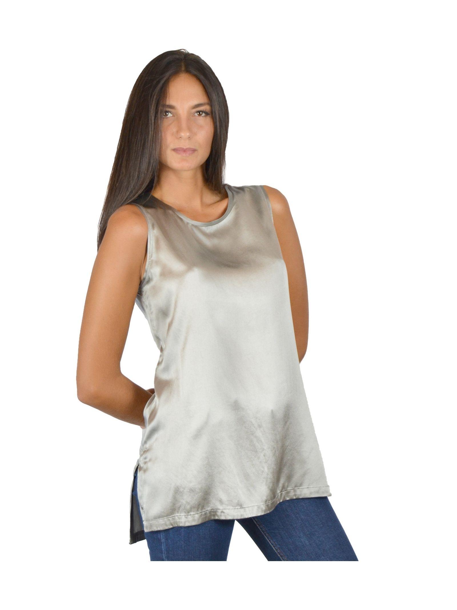 Canotta Donna Grigio Maliparmi | Camicie e Top | JP50793102121006