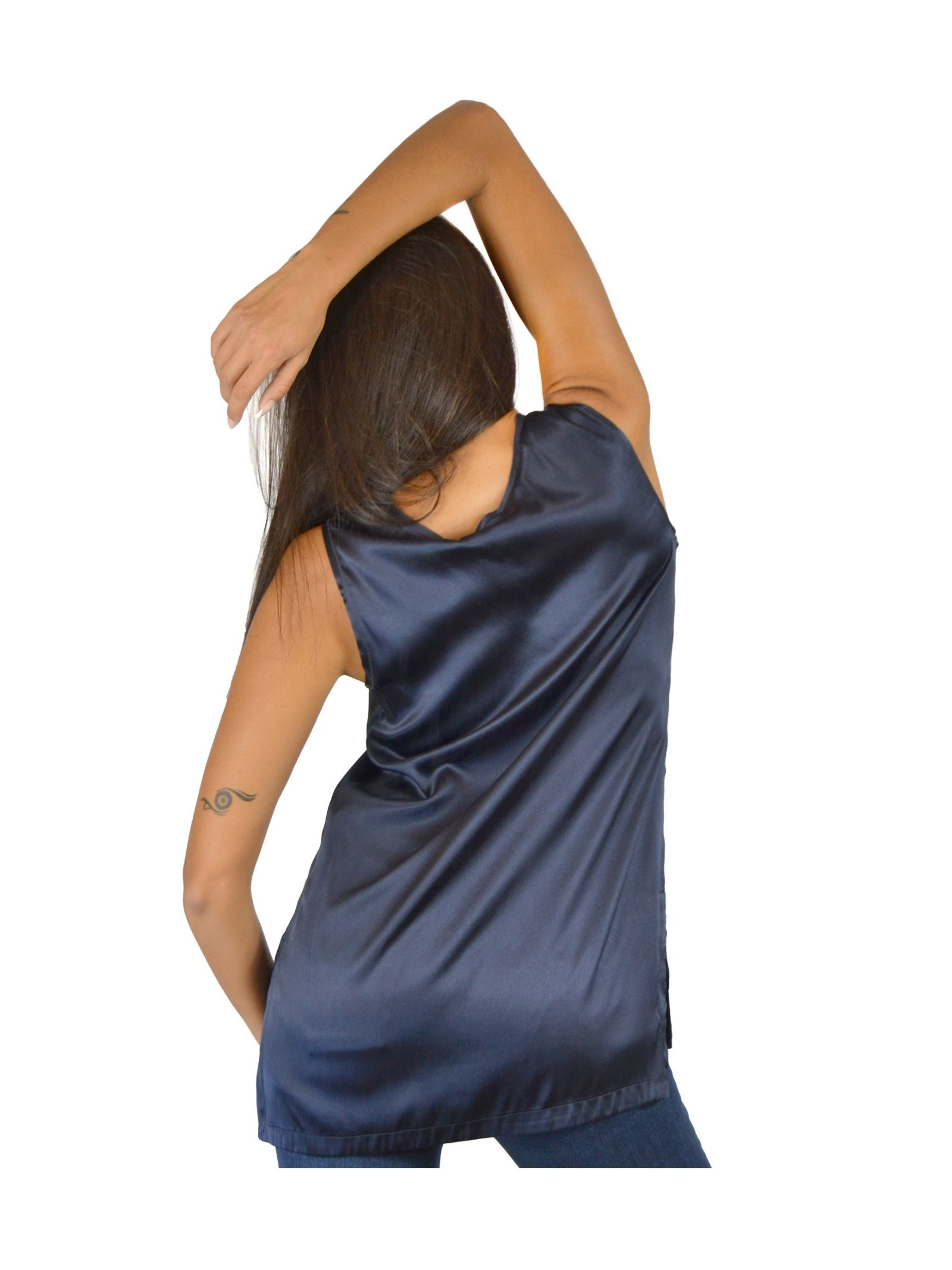 Women's Navy Blue Tank Top Maliparmi | Shirts and tops | JP50793102180025