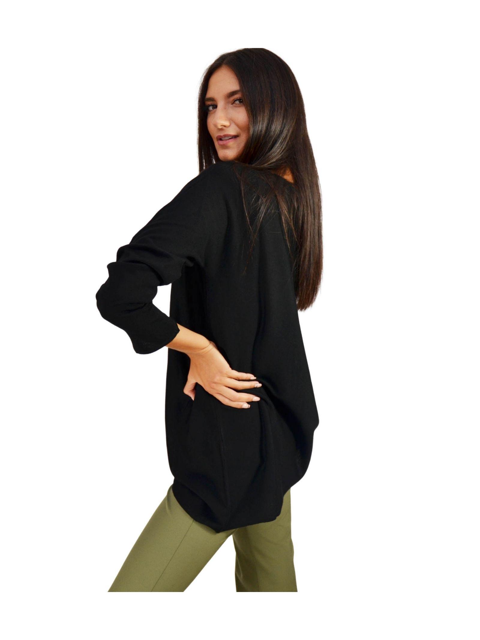 Women's Black Sweater Maliparmi   Knitwear   JQ47277423020000