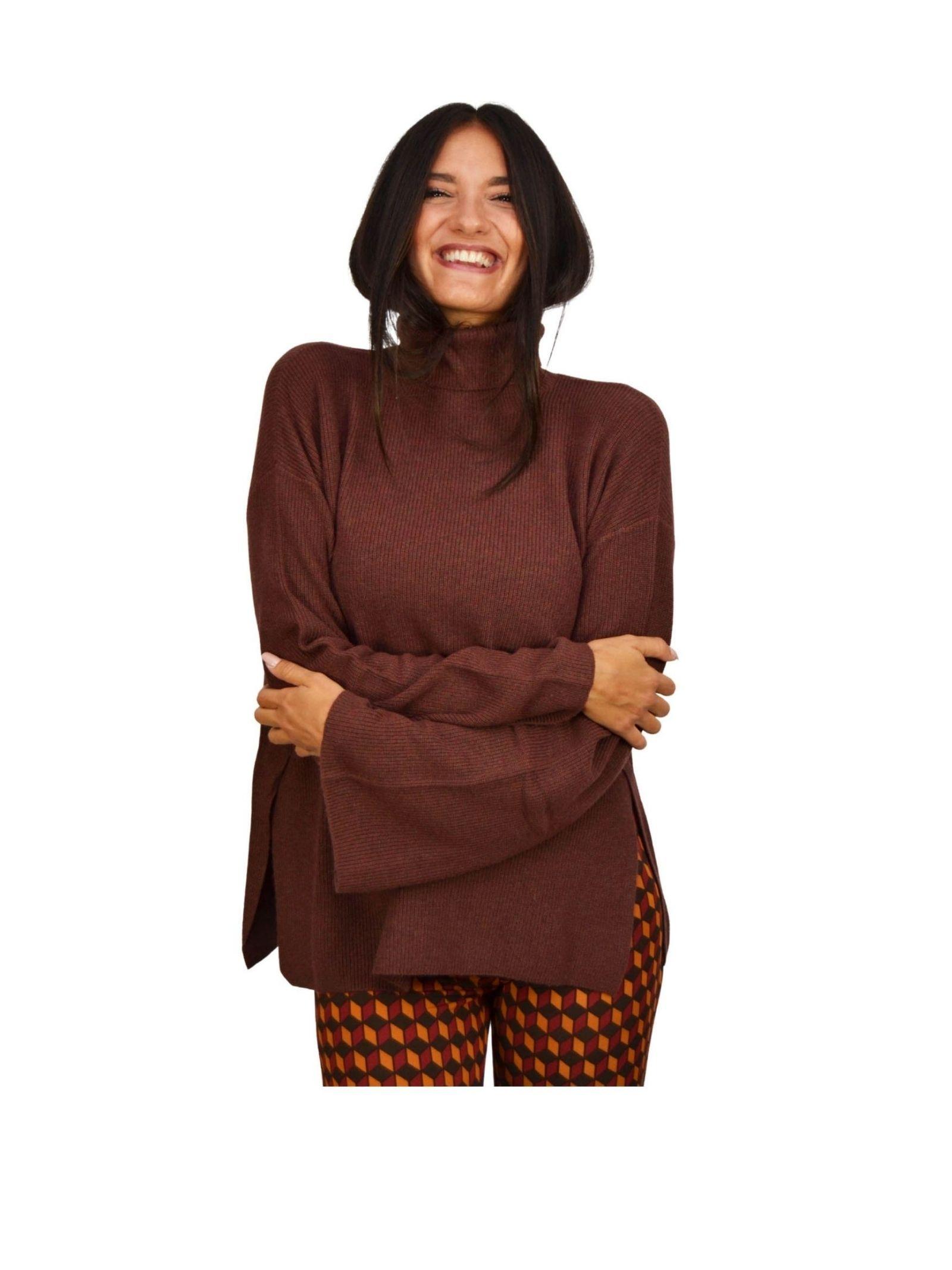 Terracotta Woman Sweater Maliparmi   Knitwear   JQ48067044440020