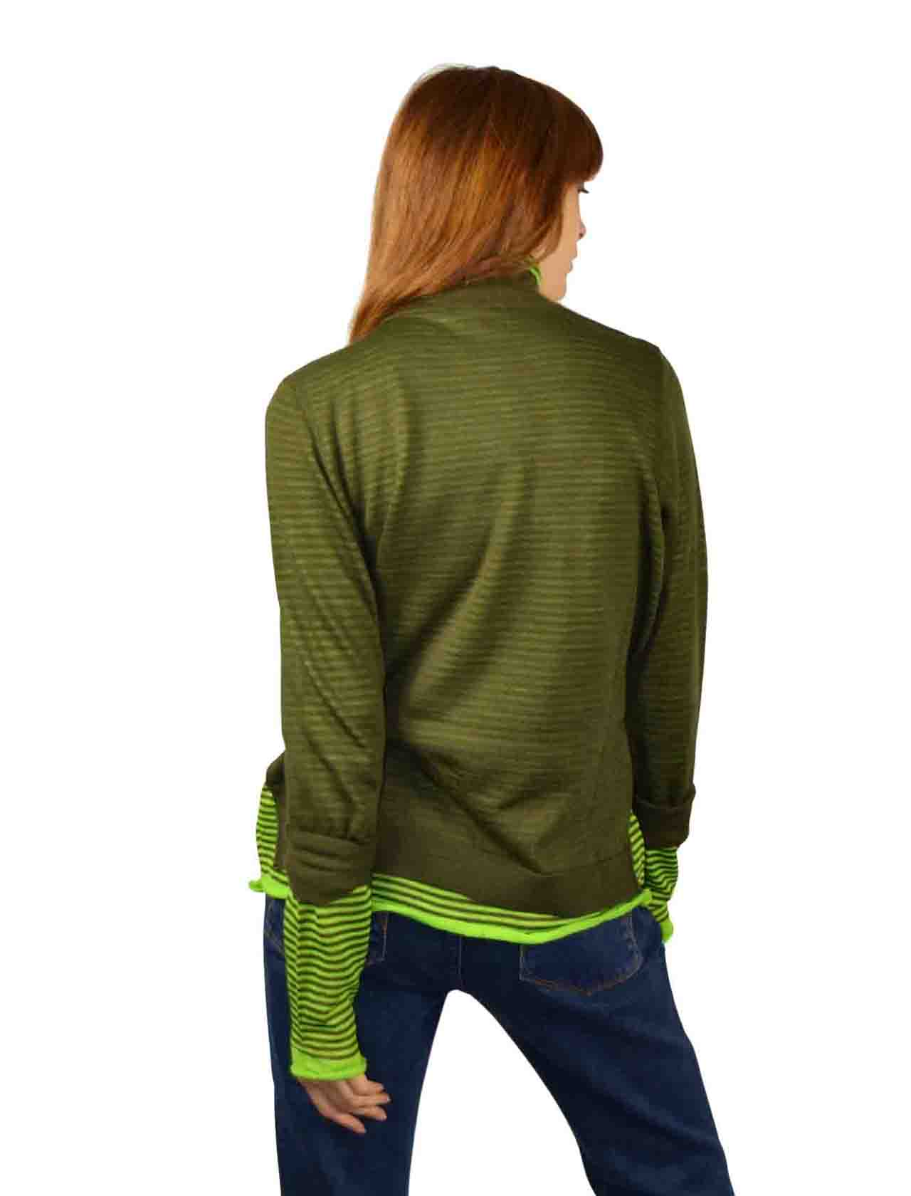 Women's Green Sweater Maliparmi | Knitwear | JQ48427047360C60