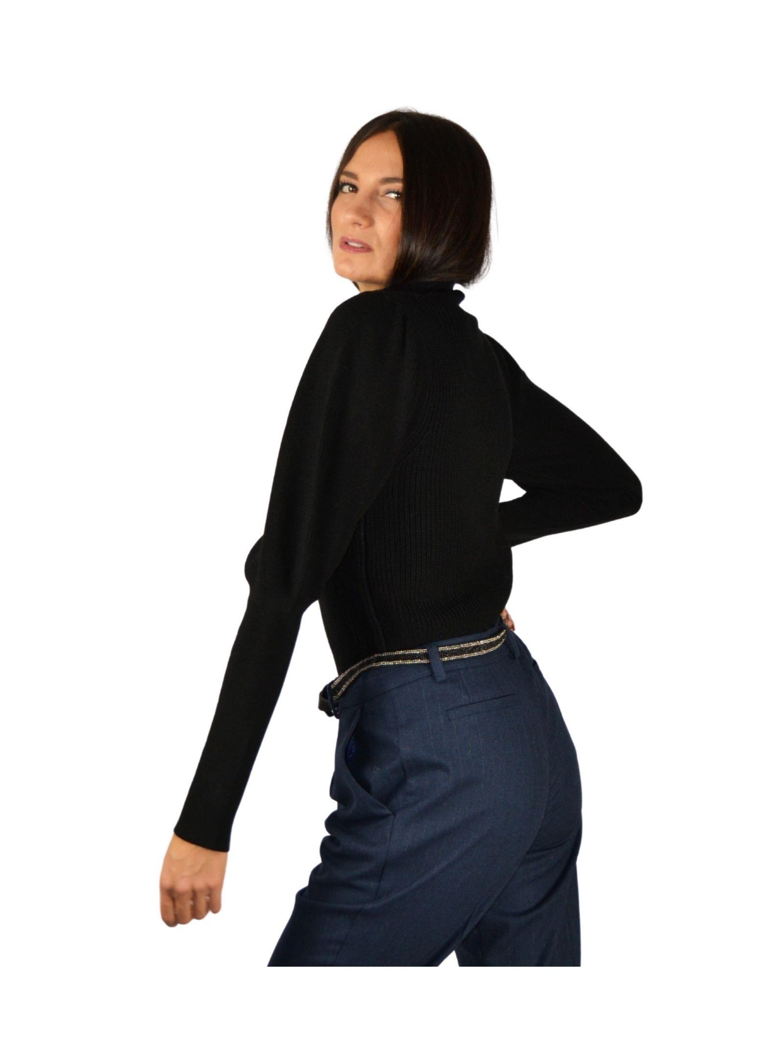 Women's Black Sweater Maliparmi   Knitwear   JQ48527423020000