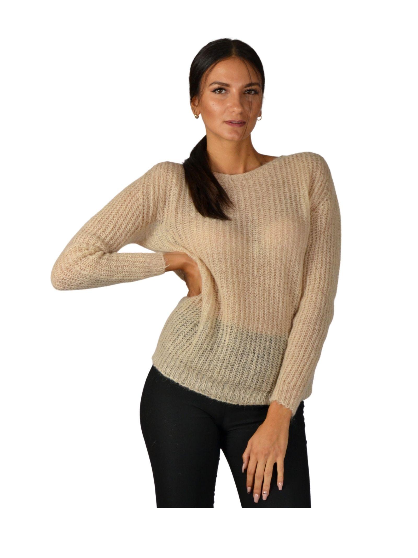 Women's Beige Sweater Pink Memories | Knitwear | 1095000