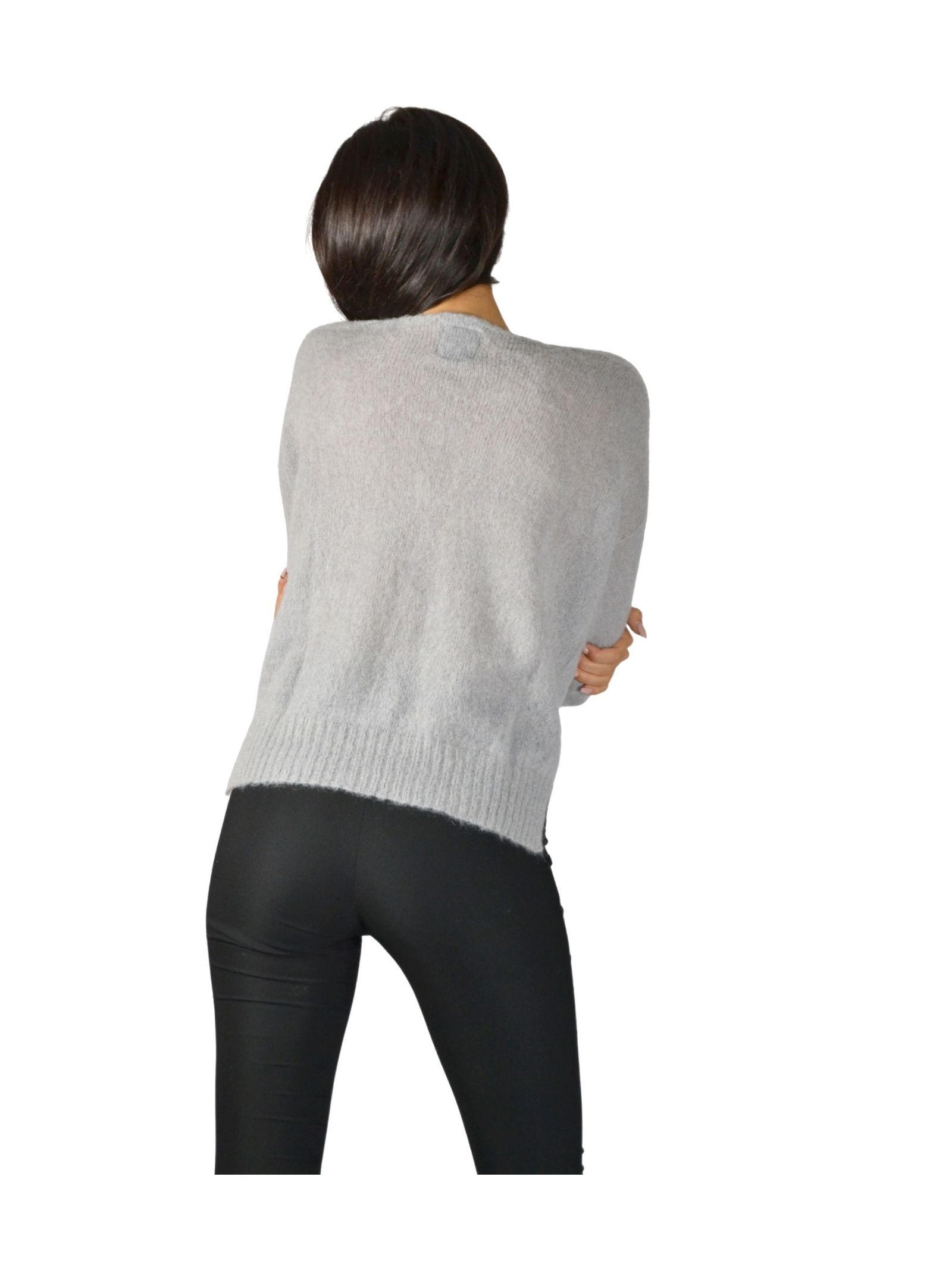 Women's Gray Cardigan Pink Memories | Knitwear | 1095225