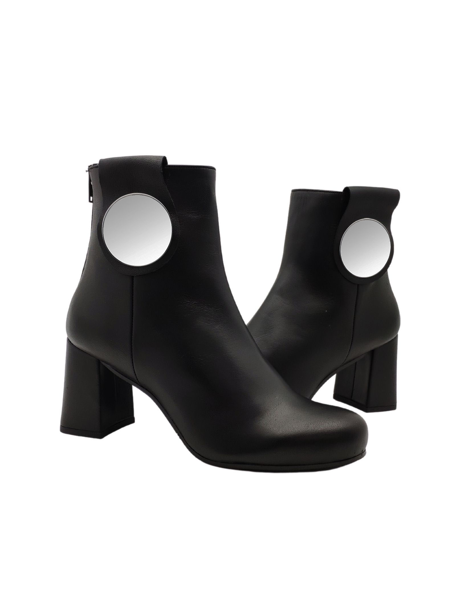 Woman ankle boot with plaque Tattoo | Ankle Boots | E52NERO