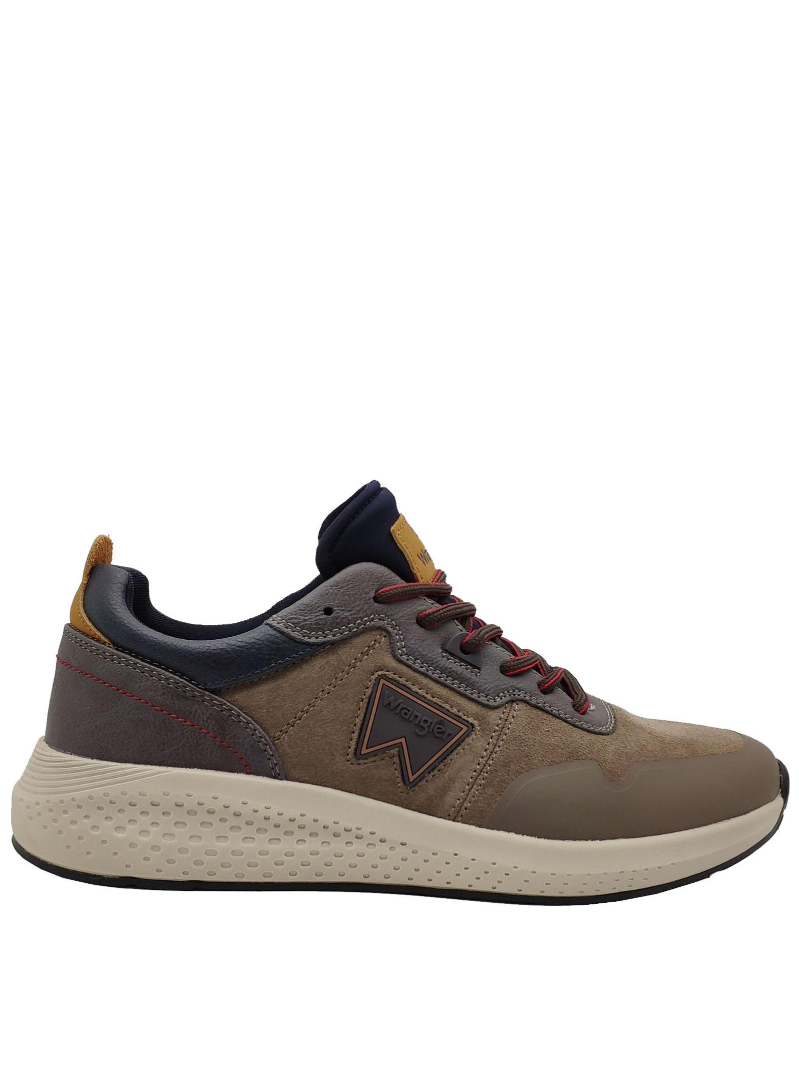Calzature Uomo Sneakers Sequoia in Camoscio Fango con Zeppa in Gomma Ultraleggera Wrangler | Sneakers | WM02090A029