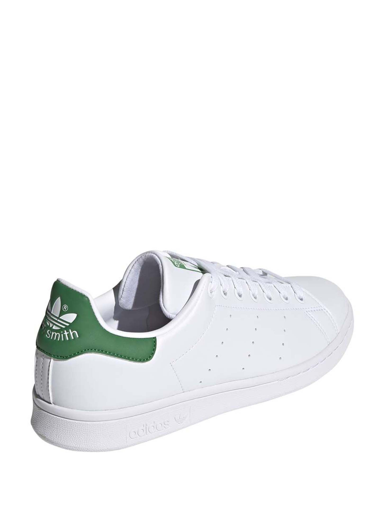 Calzature Donna Sneakers Stan Smith in Ecopelle Bianca e Verde FX7519 Adidas | Sneakers | STAN SMITH JFX7519