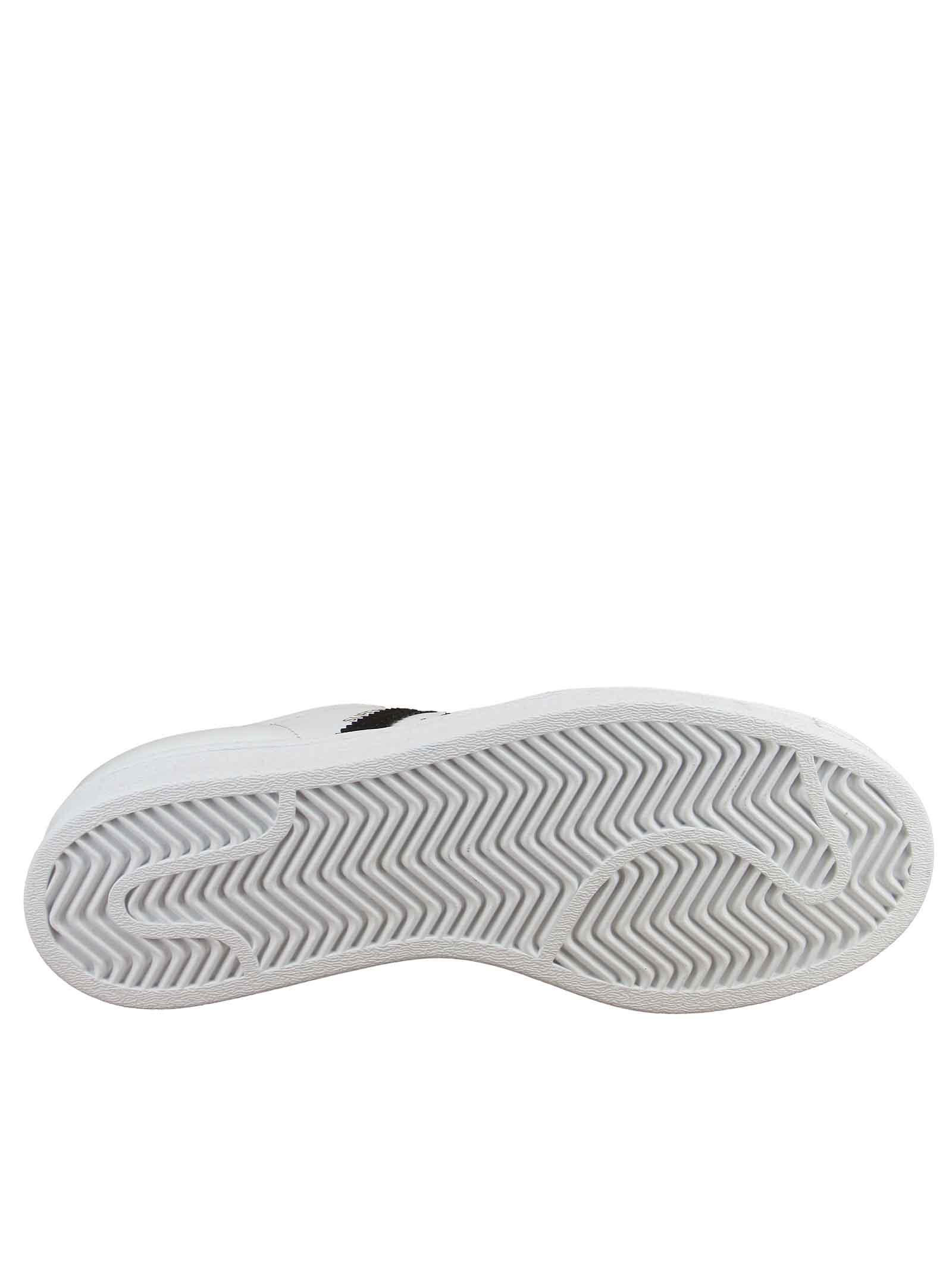 Calzature Donna Sneakers Superstar in Pelle Bianca e Nera FU7712 Adidas | Sneakers | SUPERSTAR JFU7712