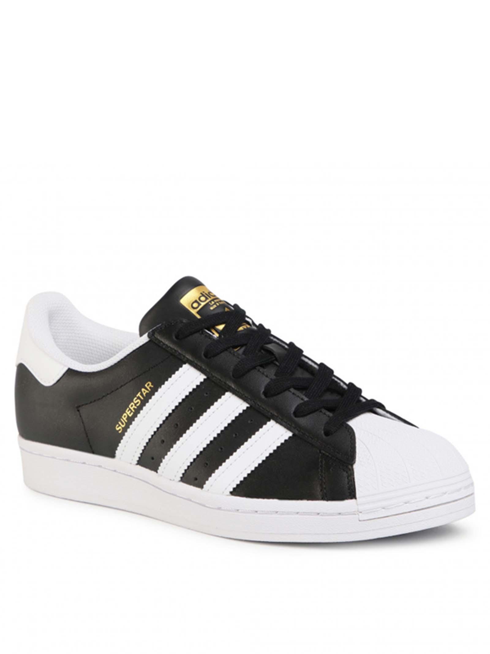 Calzature Uomo Sneakers Superstar Vegan in Ecopelle Nera e Bianca FW2296 Adidas | Sneakers | SUPERSTARFW2296