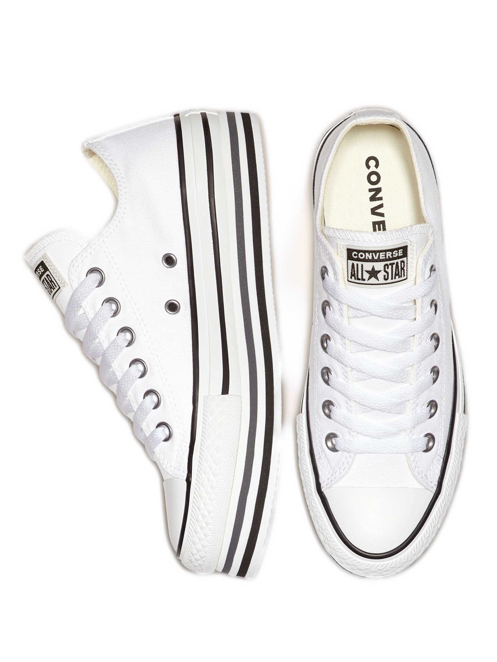 Women's Sneakers Chuck Taylor Platform in Canvas White and Wedge Sole Converse   Sneakers   CHUCK TAYLOR563971C