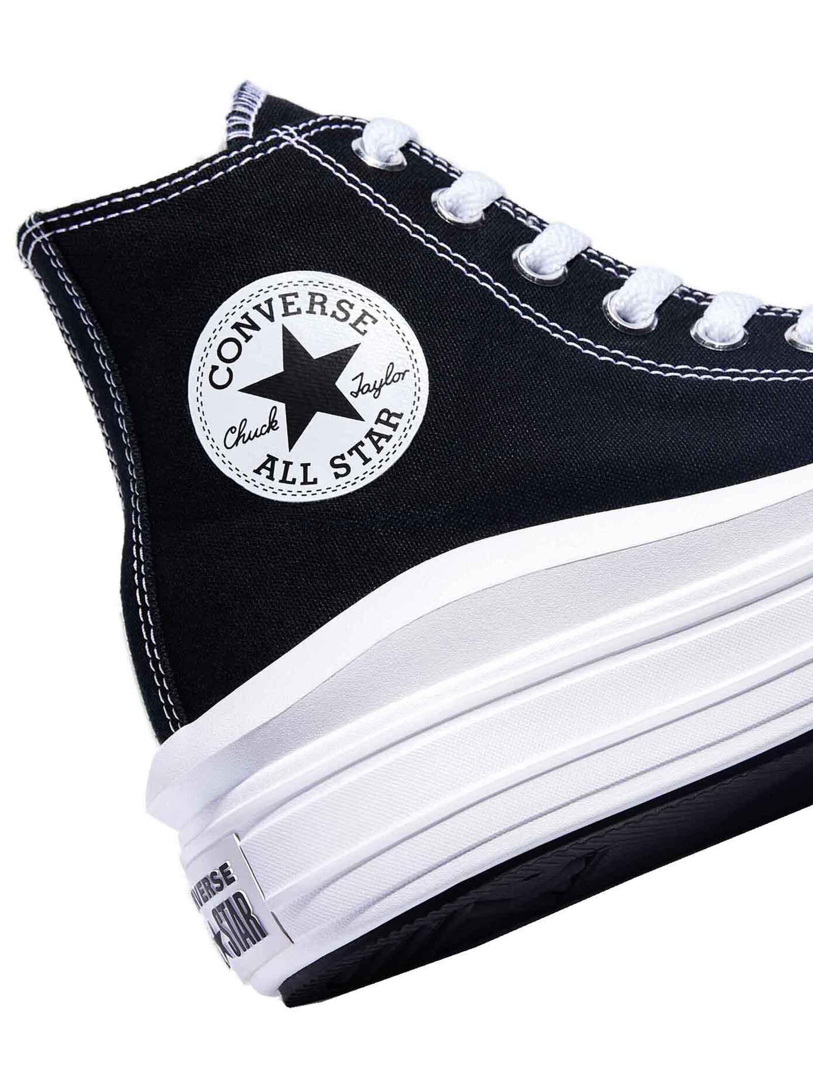 Calzature Donna Sneakers Stivaletto Chuck Taylor Hight Top in Canvas Nero e Fondo Zeppa Ultra Legero Converse | Sneakers | CHUCK TAYLOR568497C