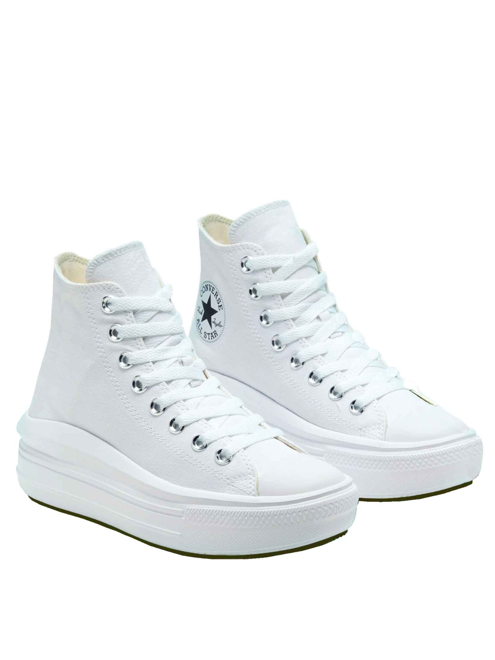 Women's Shoes Sneakers Chuck Taylor Hight Top in White Canvas and Ultra-lightweight Platform Sole Converse | Sneakers | CHUCK TAYLOR568498C