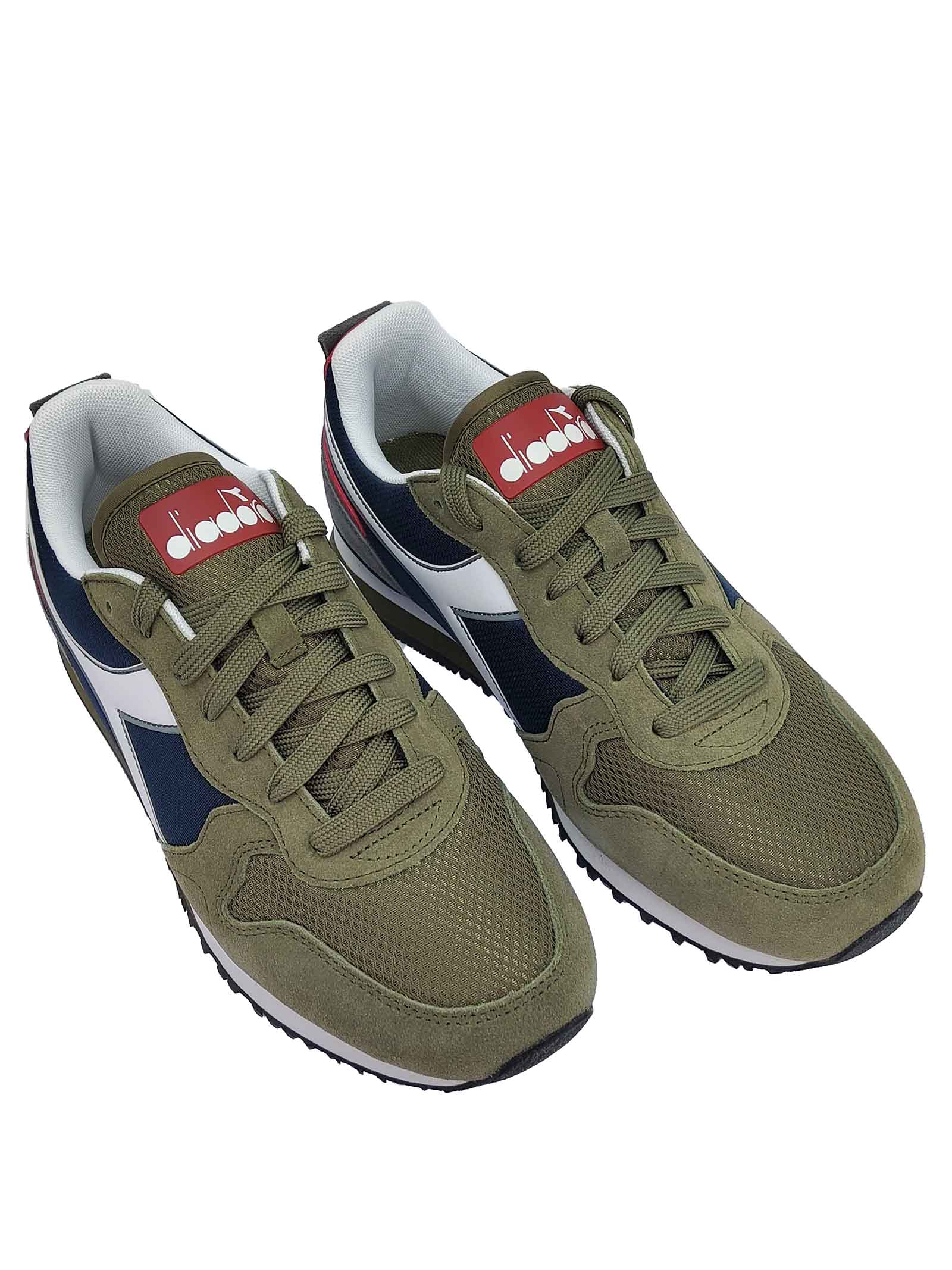 Calzature Uomo Sneakers Olympia in Tessuto ed Ecopelle Verde e Marrone 174376 Diadora | Sneakers | OLYMPIA70431