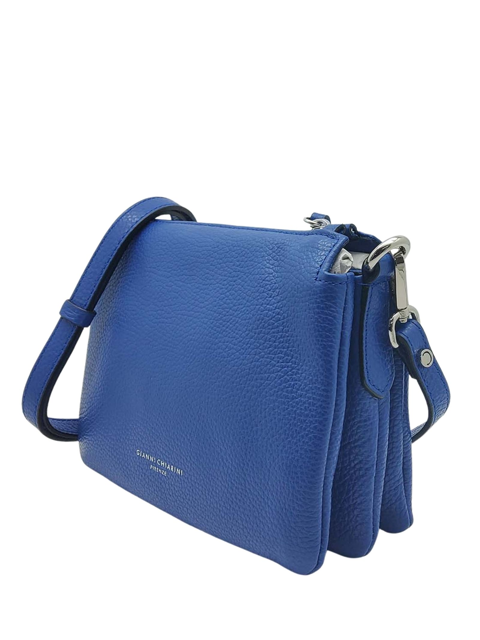 Women's Bag Cross-body Clutch Three In Blue Hammered Leather With Adjustable And Detachable Cross-body Strap Gianni Chiarini   Bags and backpacks   BS43626241