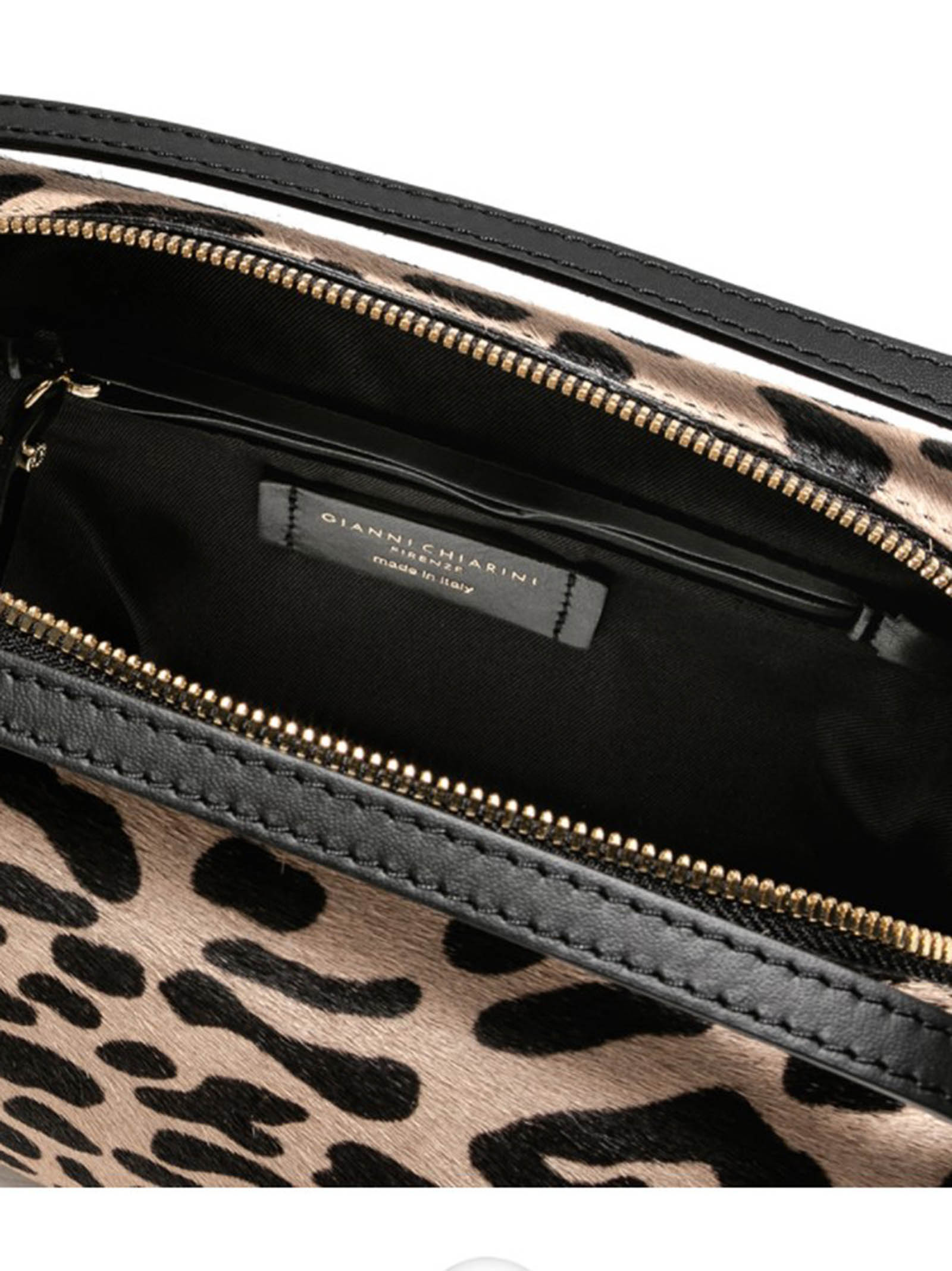 Women's Bag Maxi Alifa Handbag In Spotted Pony Skin And Black Leather With Double Handles and Detachable Leather Cross-body Strap Tone-on-tone Gianni Chiarini | Bags and backpacks | BS814810730