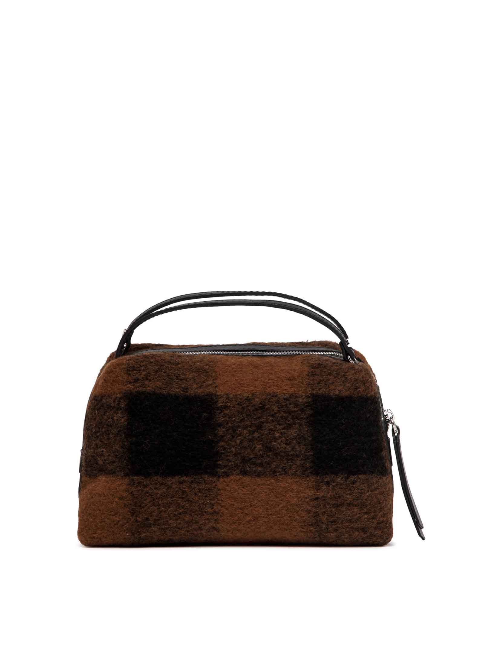 Women's Clucth Bag Alifa In Madras Tan And Brown Fabric And Black Leather Inserts With Adjustable And Detachable Cross-body Strap Gianni Chiarini | Bags and backpacks | BS825811130