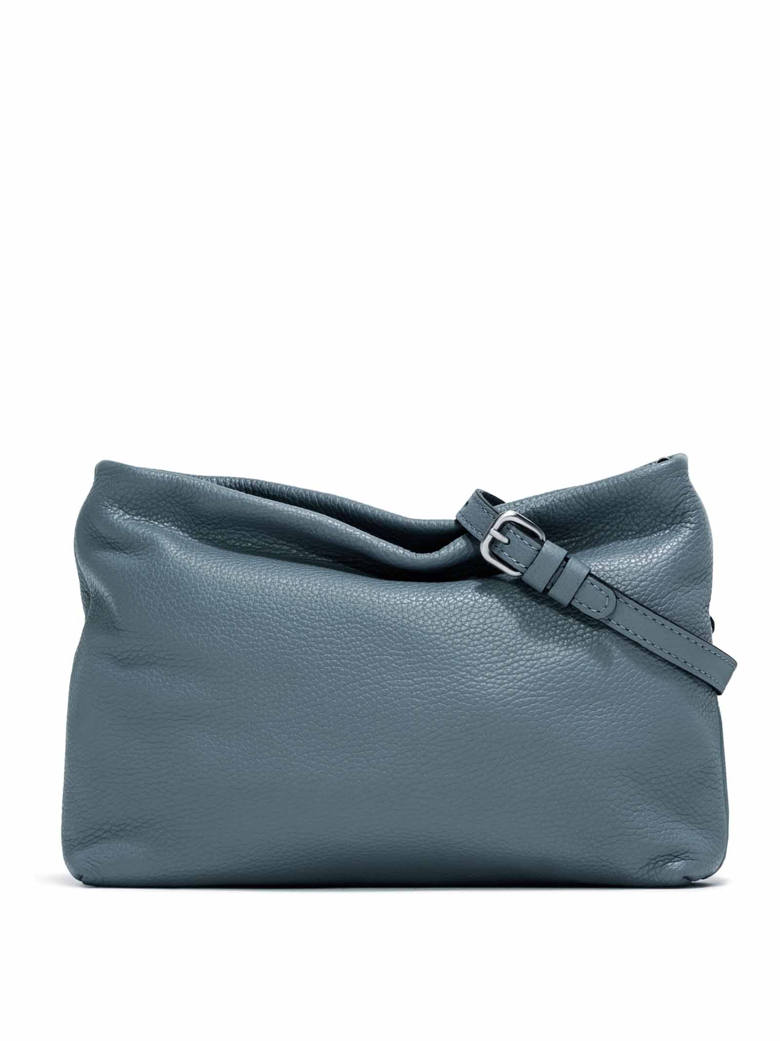 Woman's Shoulder Bag Mini Brenda In Blue Leather With Color Matched Chain And Adjustable And Detachable Cross-body Strap Gianni Chiarini   Bags and backpacks   BS826512064