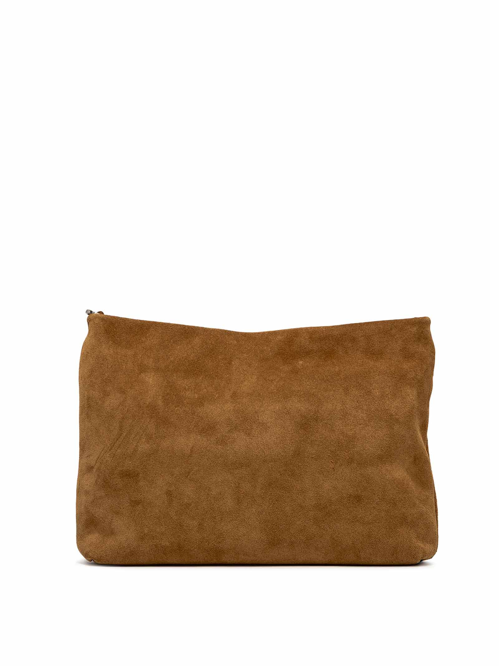 Woman's Shoulder Bag Mini Brenda In Tan Suede With Color Matched Chain And Adjustable And Detachable Cross-body Strap Gianni Chiarini | Bags and backpacks | BS8265206