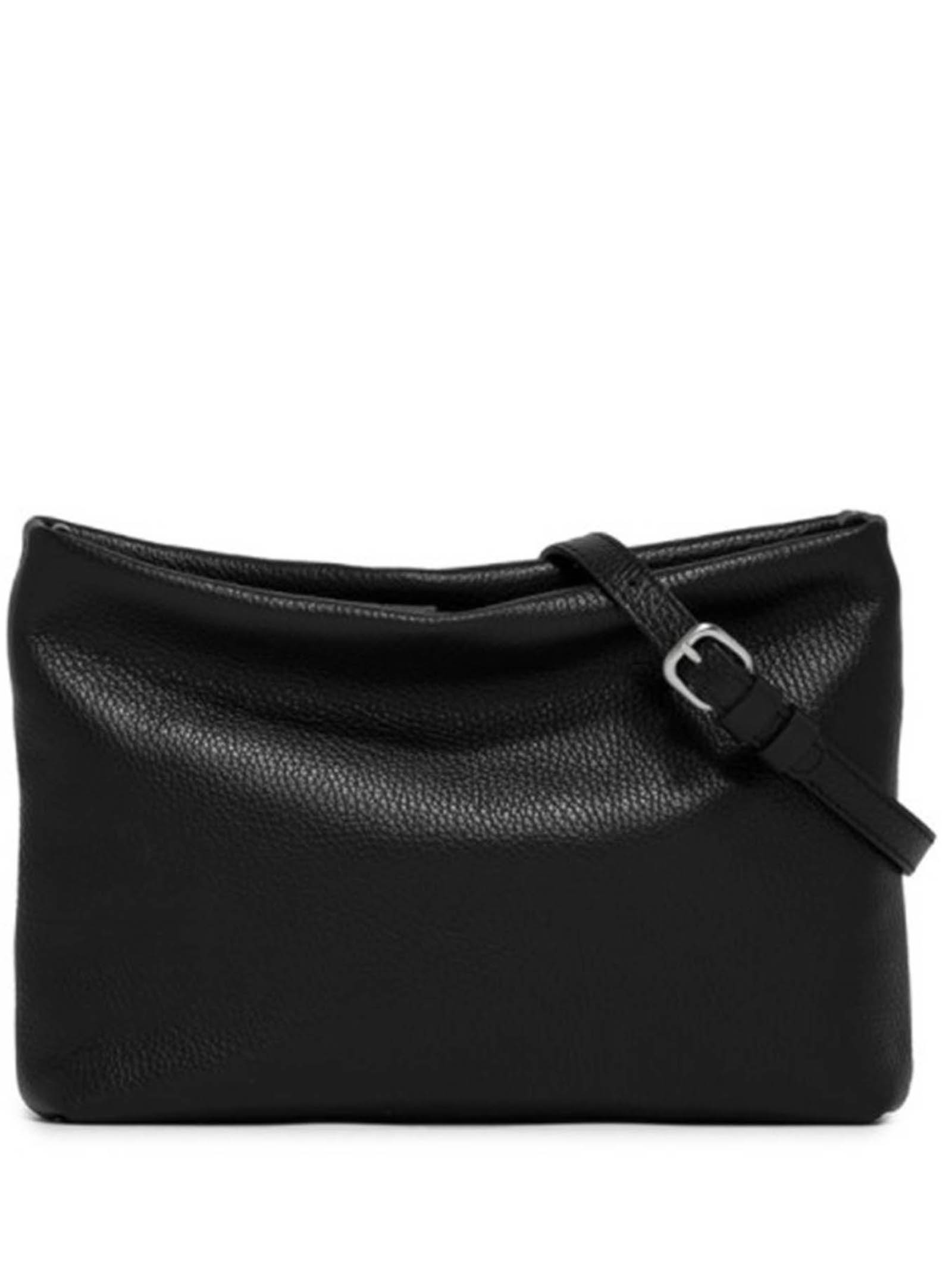Woman's Shoulder Bag Maxi Brenda In Black Leather With Color Matched Chain And Adjustable And Detachable Leather Cross-body Strap Gianni Chiarini | Bags and backpacks | BS8266001