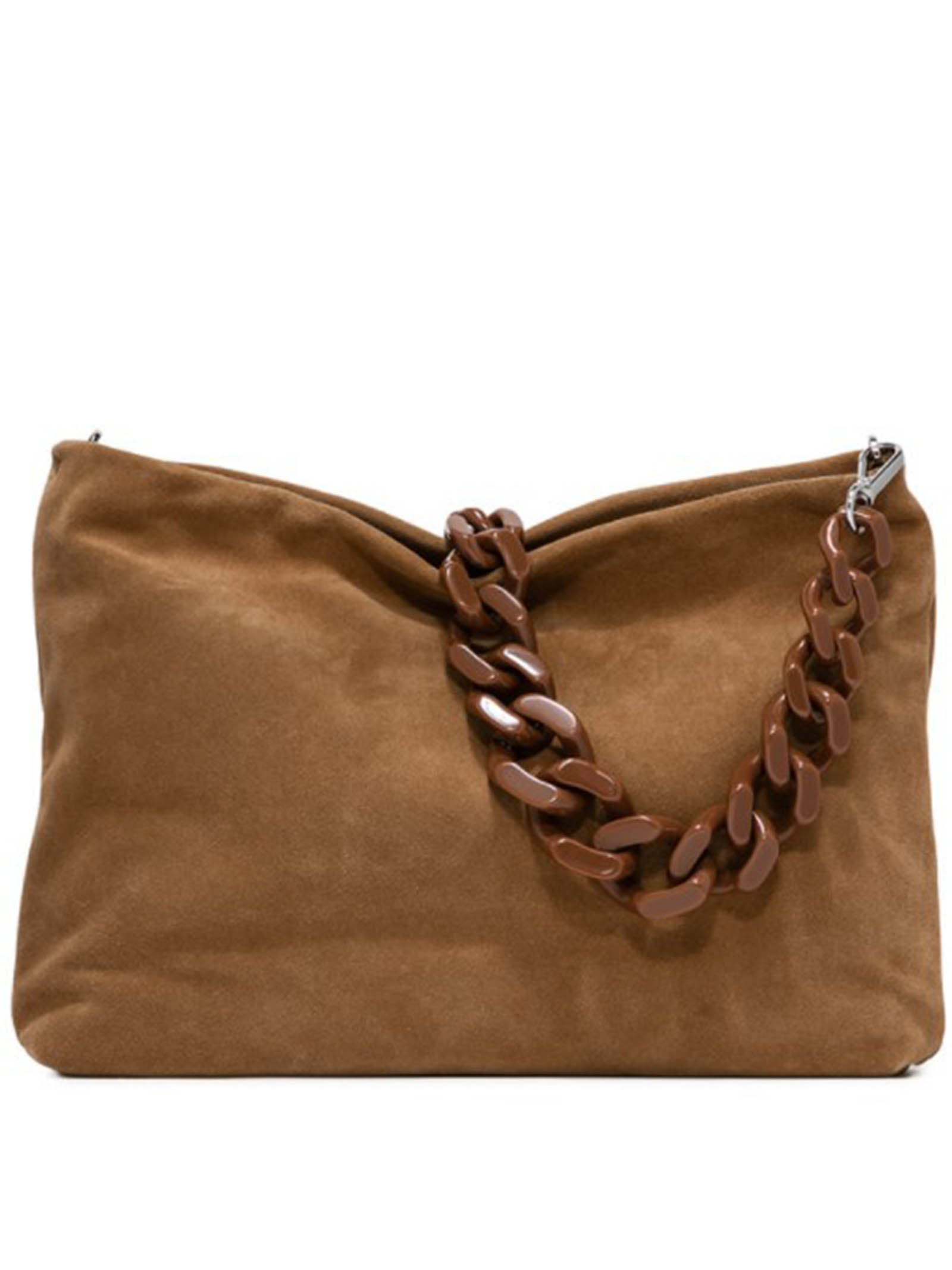 Woman's Shoulder Bag Maxi Brenda In Tan Suede With Gold And Adjustable And Detachable Leather Cross-body Strap Gianni Chiarini   Bags and backpacks   BS8266206