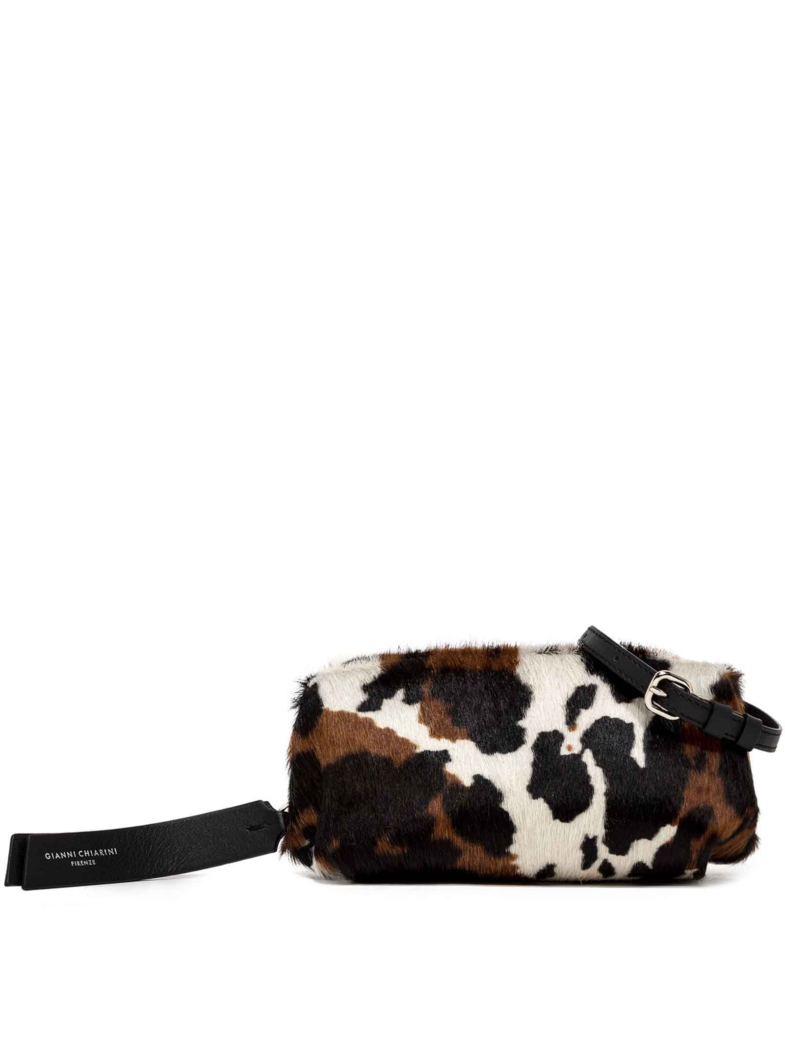 Women's Handbag Colette In Animalier Leather With Black Braided Handle And Adjustable and Detachable Leather Cross-body Strap In Matching Color Gianni Chiarini | Bags and backpacks | BS840412181
