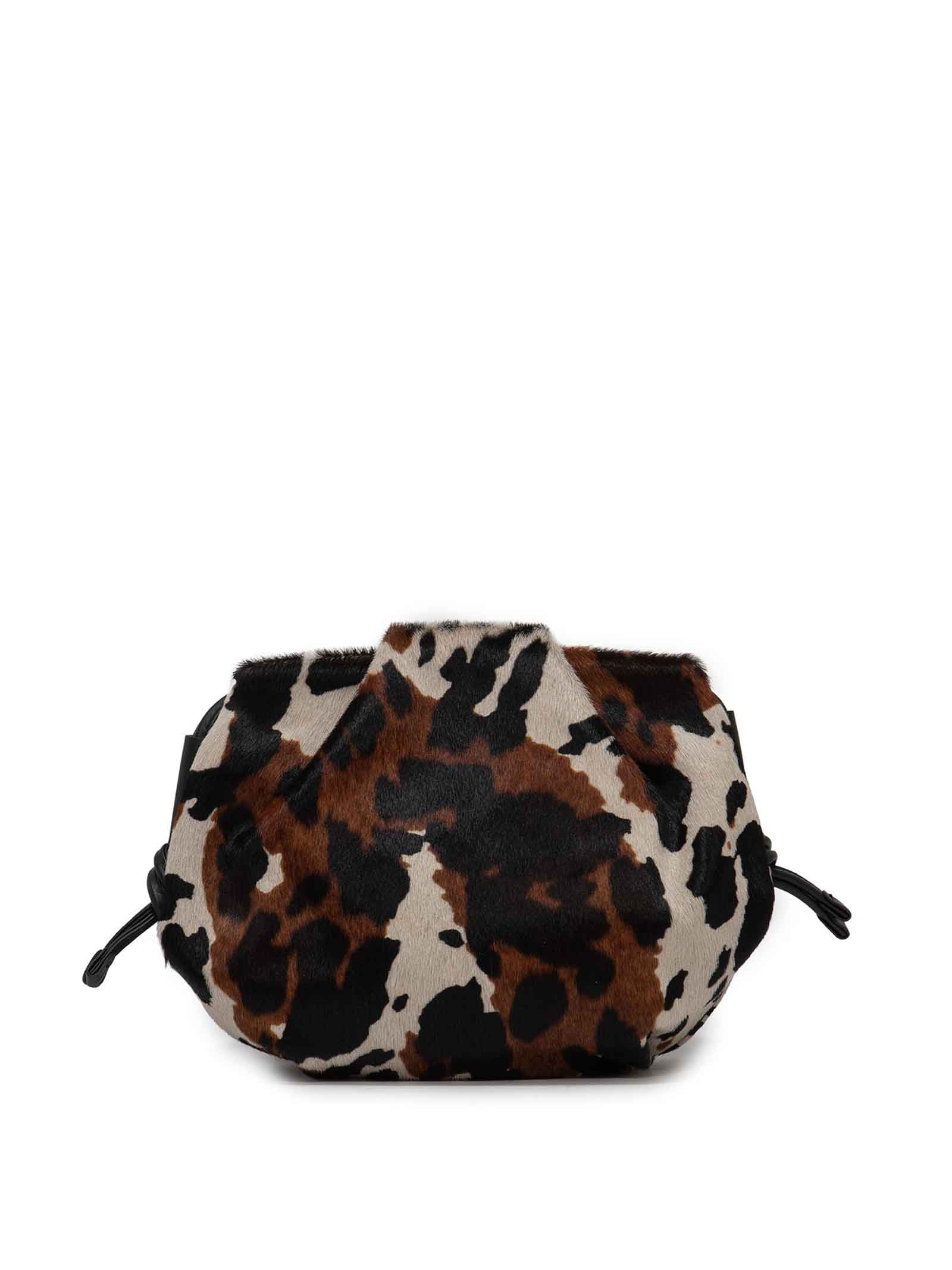 Women's Shoulder Bag Flora in Pony Print Cow Leather with Black Leather Tassels and Adjustable Leather Shoulder Strap Gianni Chiarini | Bags and backpacks | BS847512181