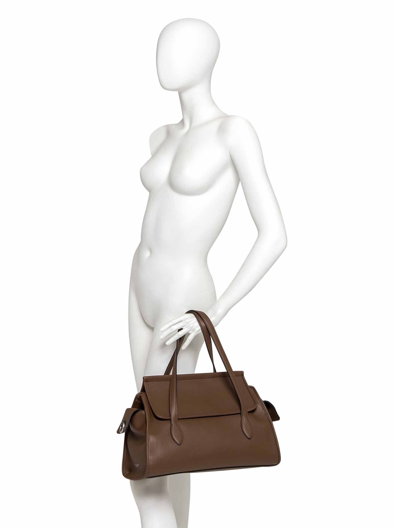 Women's Flora Printed Leather Shoulder Bag Joan in Taupe Leather with Double Handles and Adjustable and Detachable Double Shoulder Strap in Cowhide Leather Gianni Chiarini | Bags and backpacks | BS87564176