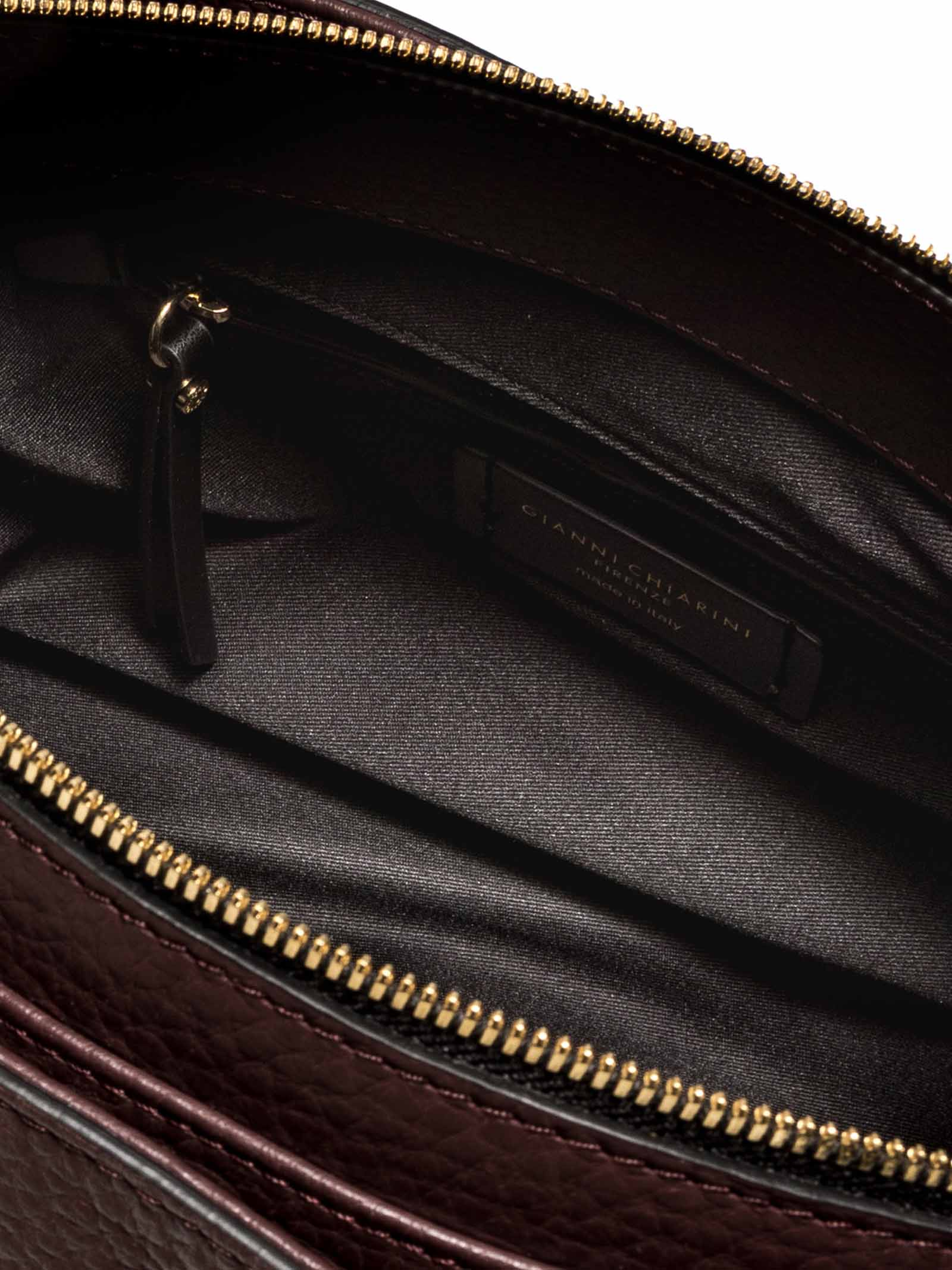 Women's Sandrine Shoulder Bag in Bordeaux Leather with Long Double Handles and Double Cursor Zip Closure Gianni Chiarini | Bags and backpacks | BS87876649