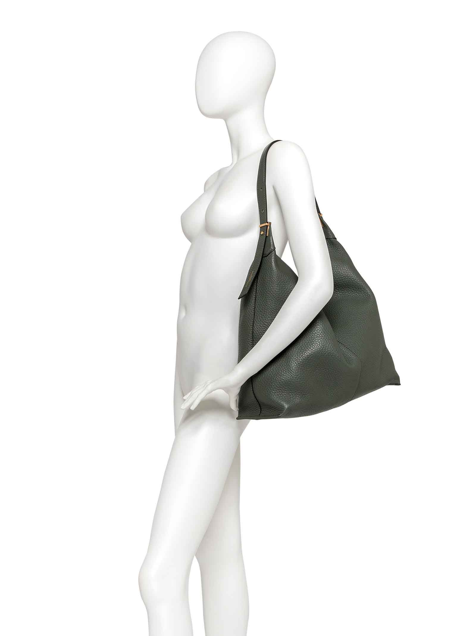 Women's Shoulder Bag Lisa in Green Leather with Adjustable Handle and Interior Clutch Gianni Chiarini   Bags and backpacks   BS891511384