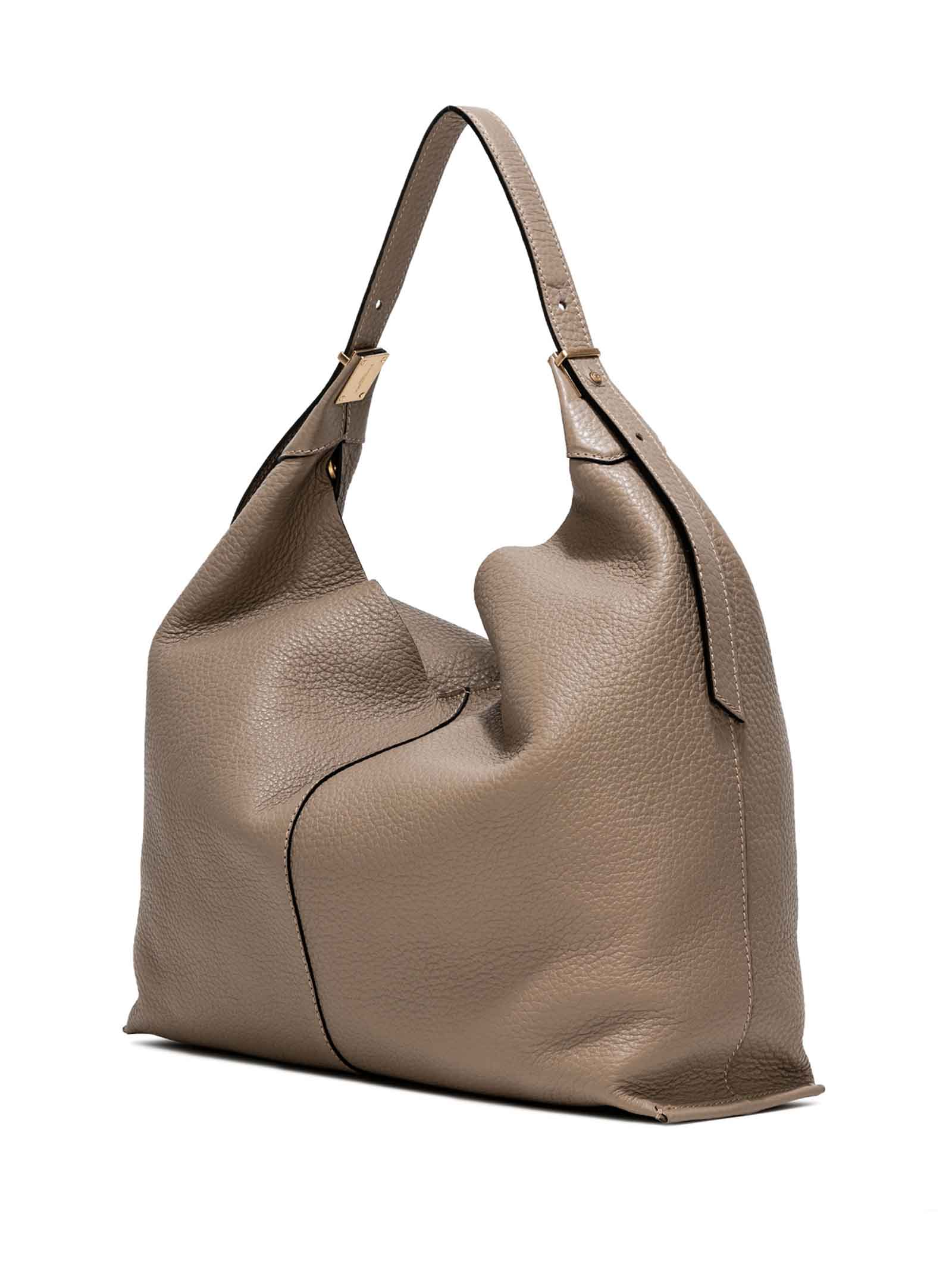 Women's Shoulder Bag Lisa in Beige Leather with Adjustable Handle and Interior Clutch Gianni Chiarini | Bags and backpacks | BS89151422