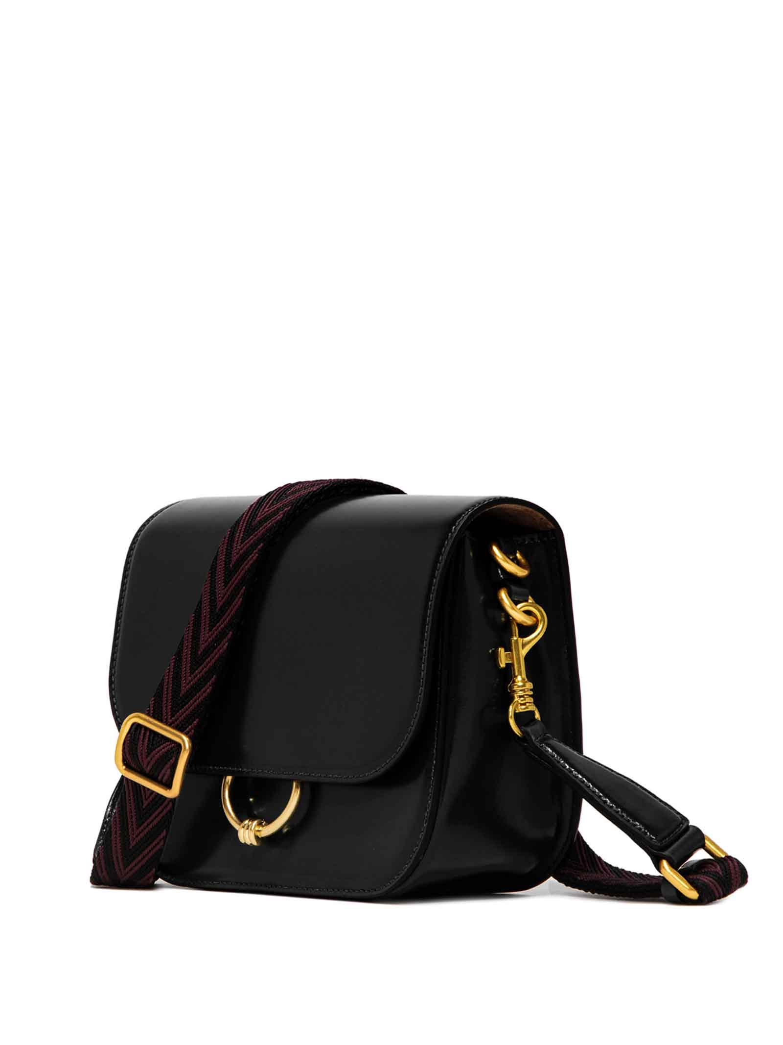 Women's Accessories Shoulder Bag Meg in Black Leather with Magnet Clasp and Detachable Fabric Shoulder Strap Gianni Chiarini   Bags and backpacks   BS8925001