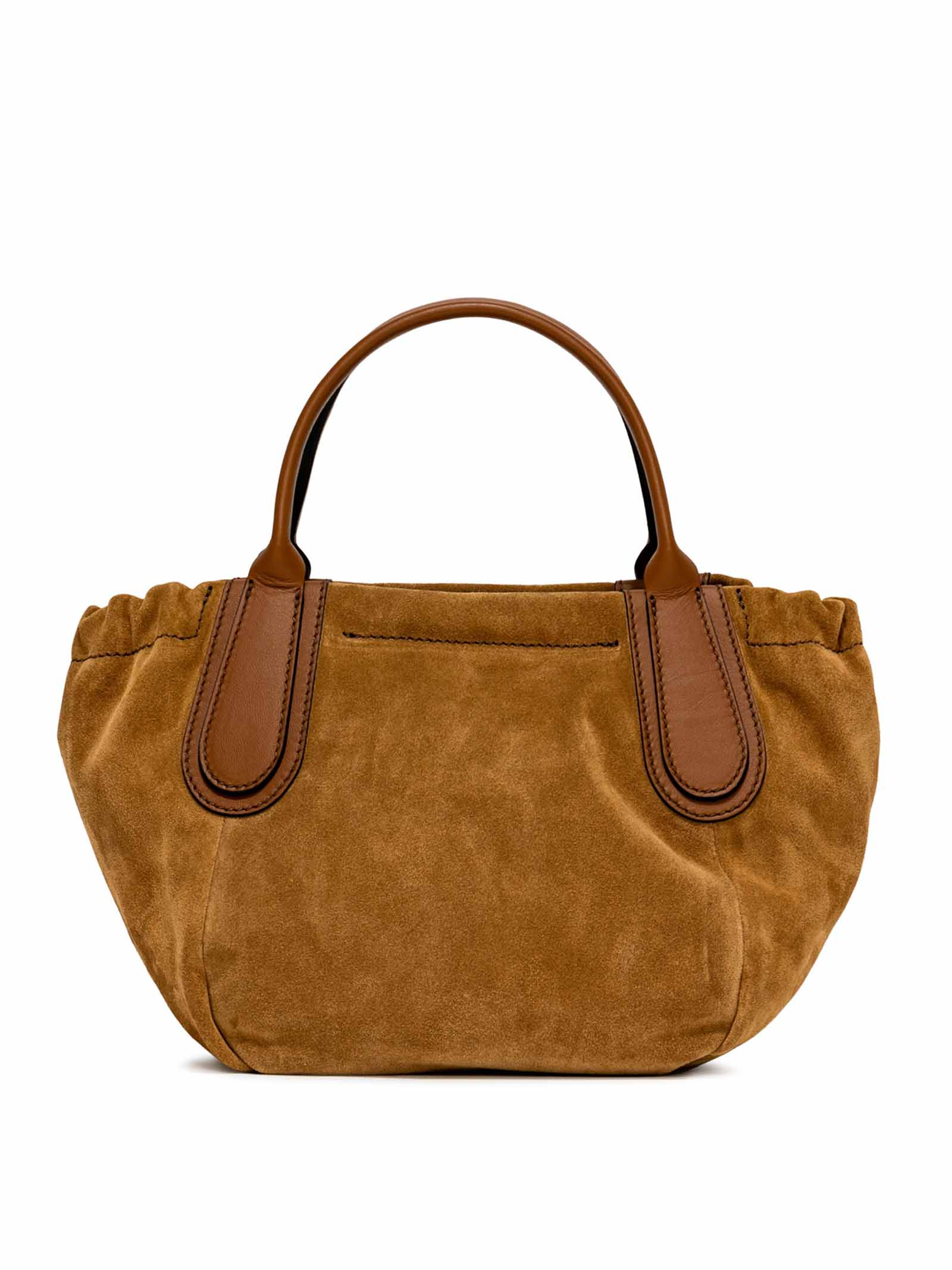 Women's Shoulder Bag Mini Aria in Suede Leather with Double Matching Leather Handles and Adjustable and Detachable Tinted Leather Shoulder Strap Gianni Chiarini   Bags and backpacks   BS93998217