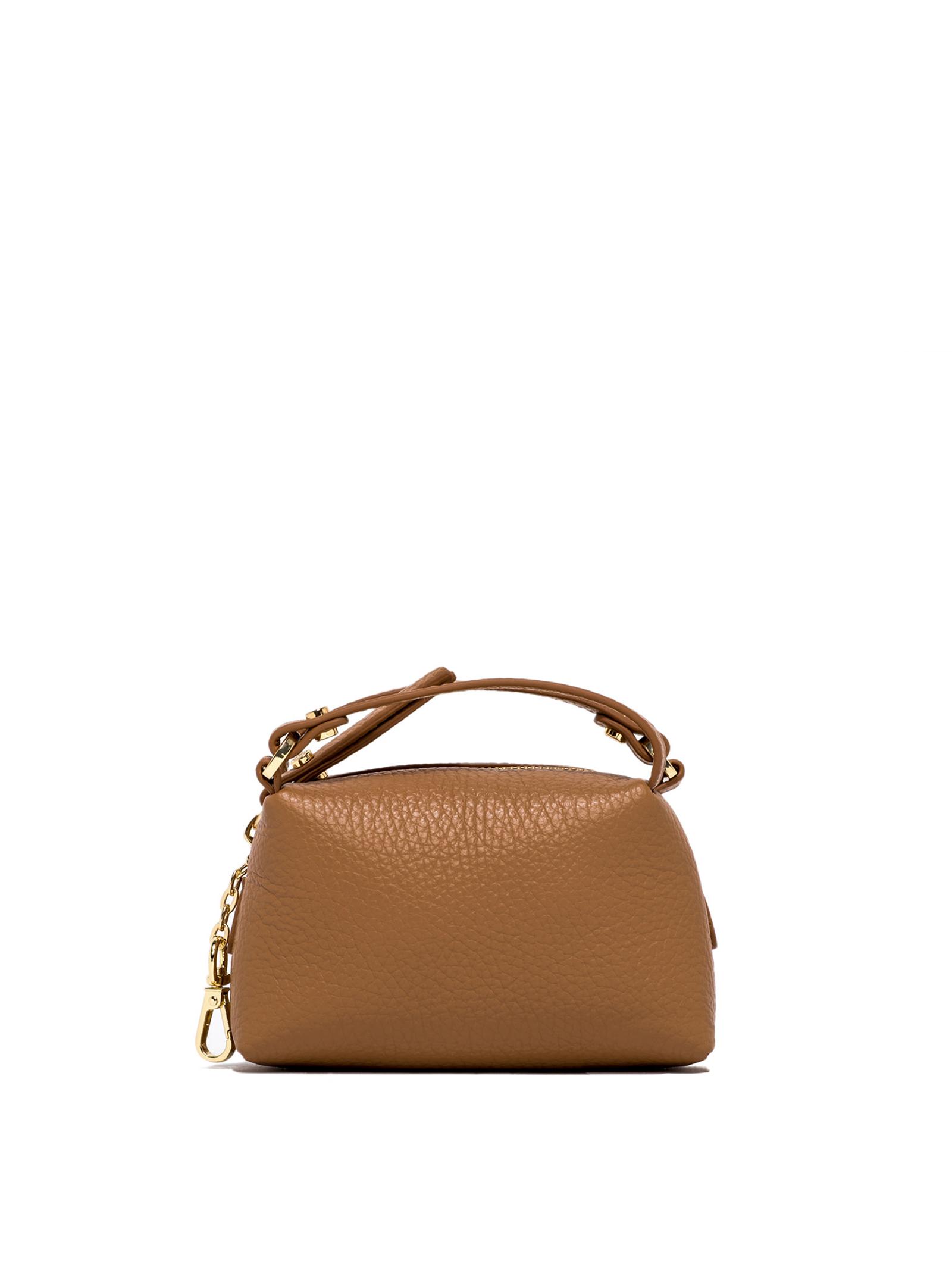 Borsa Donna Pochette Mini Bag Alifa a Tracolla in Pelle Lucida Cuoio con Tracolla Removibile in Catena Oro Gianni Chiarini   Borse e zaini   BSM8610009