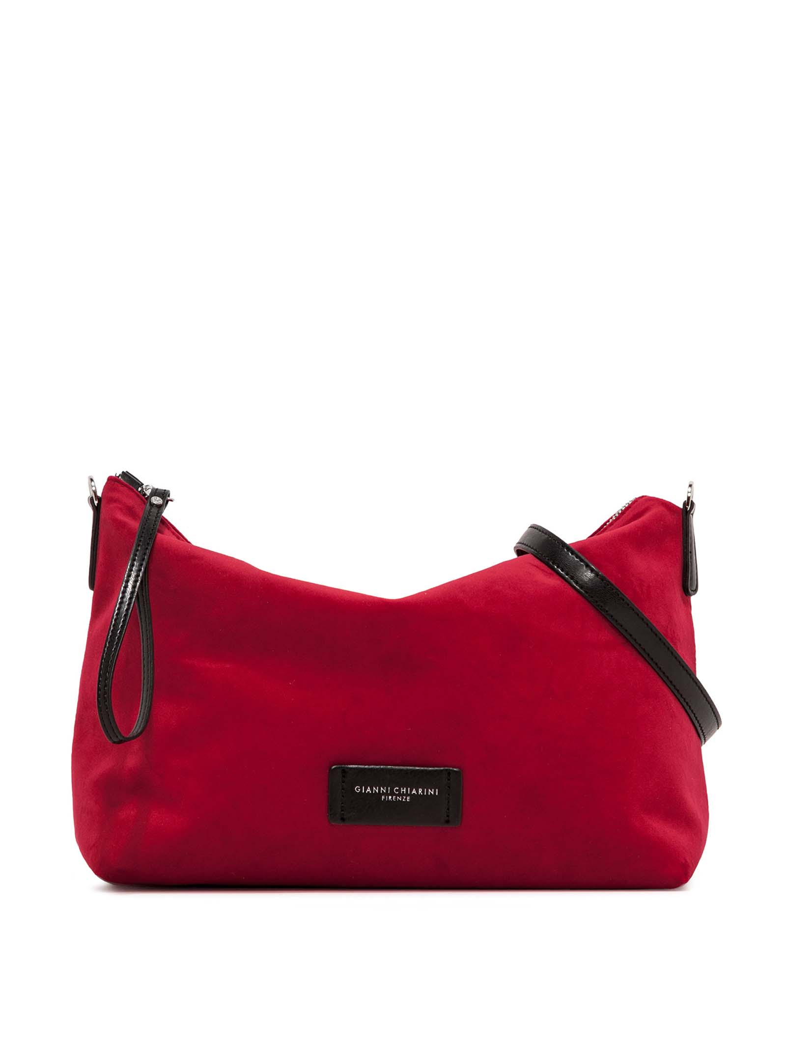Women's Accessories Empty Bag in Red Fabric with Leather Shoulder Strap and Bracelet Gianni Chiarini   Bags and backpacks   SB9391447