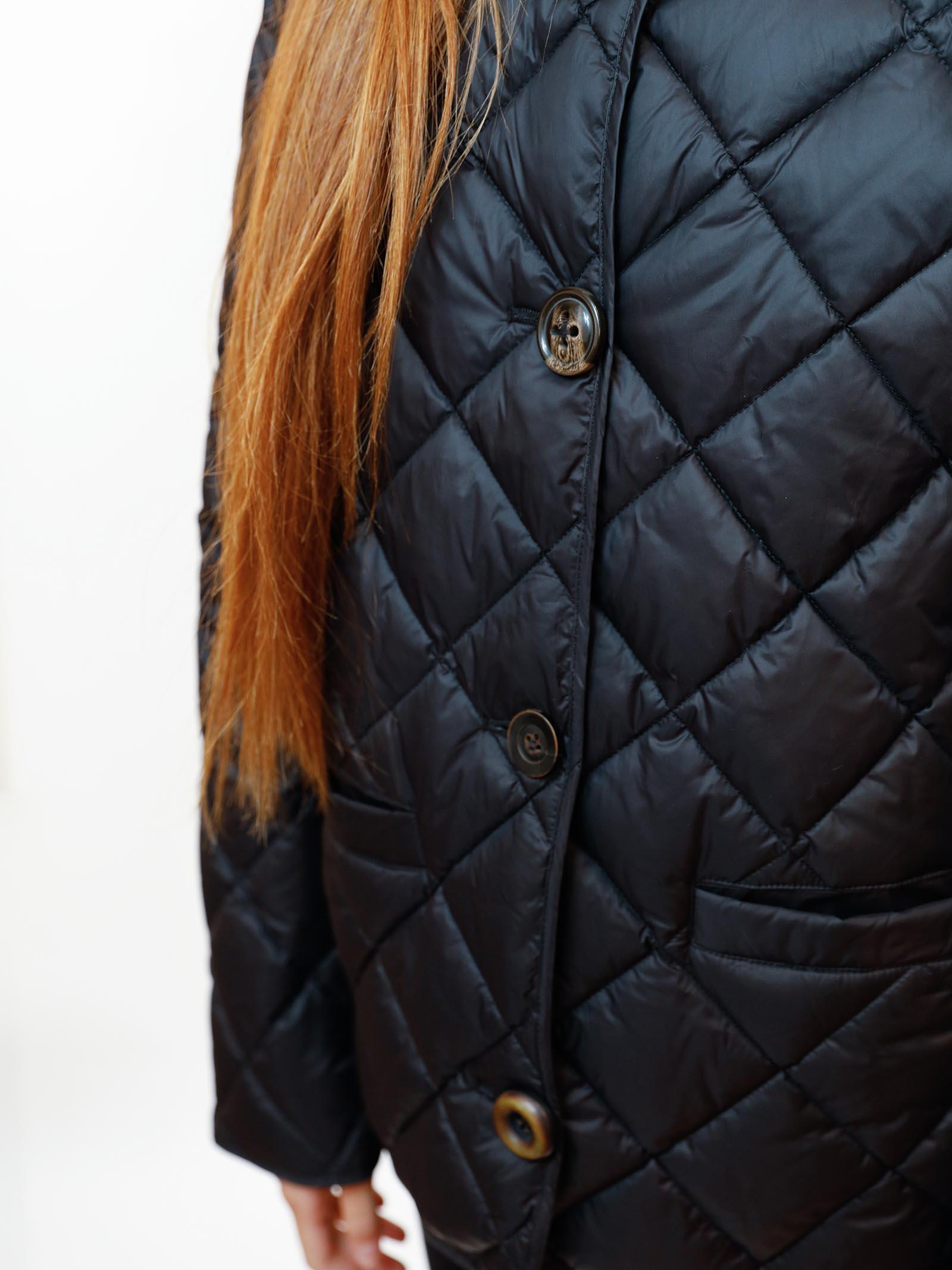 Abbigliamento Donna Piumino Quilted in Nylon Nero Trapuntato con Mix di Bottoni Maliparmi   Cappotti   JA52655016520000