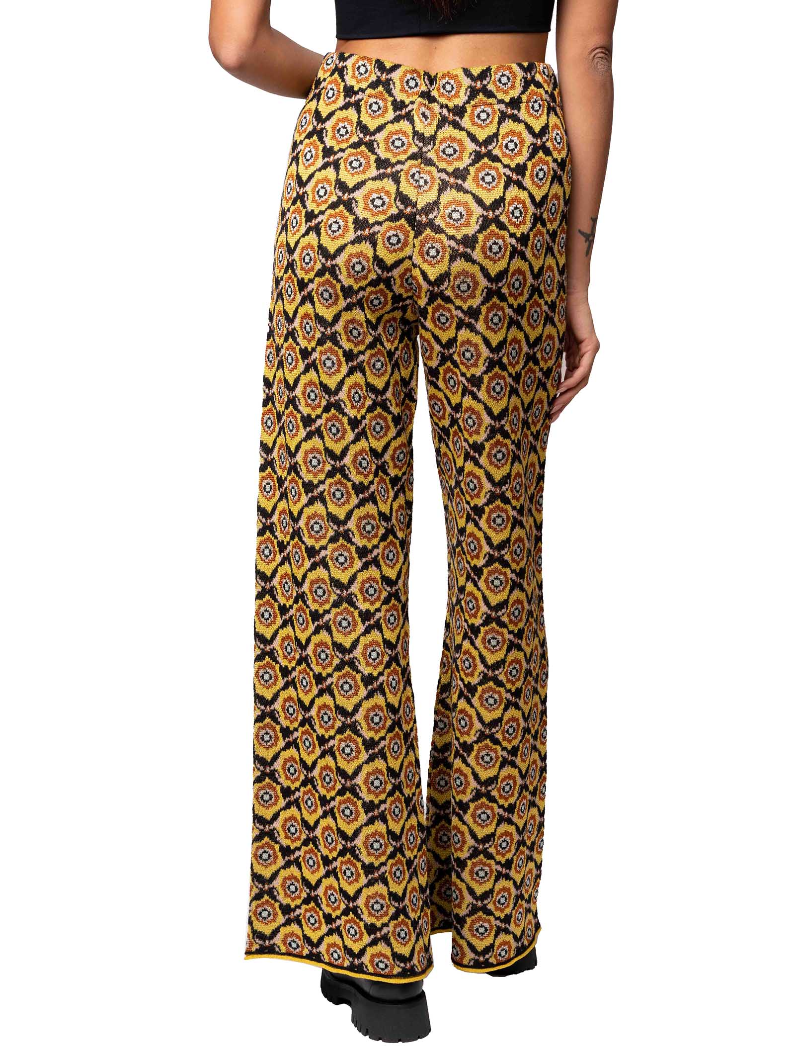 Women's Clothings Trousers Alchimia Jacquard in Knit Black of Viscose and Lurex Maliparmi   Skirts and Pants   JH746878071B2028