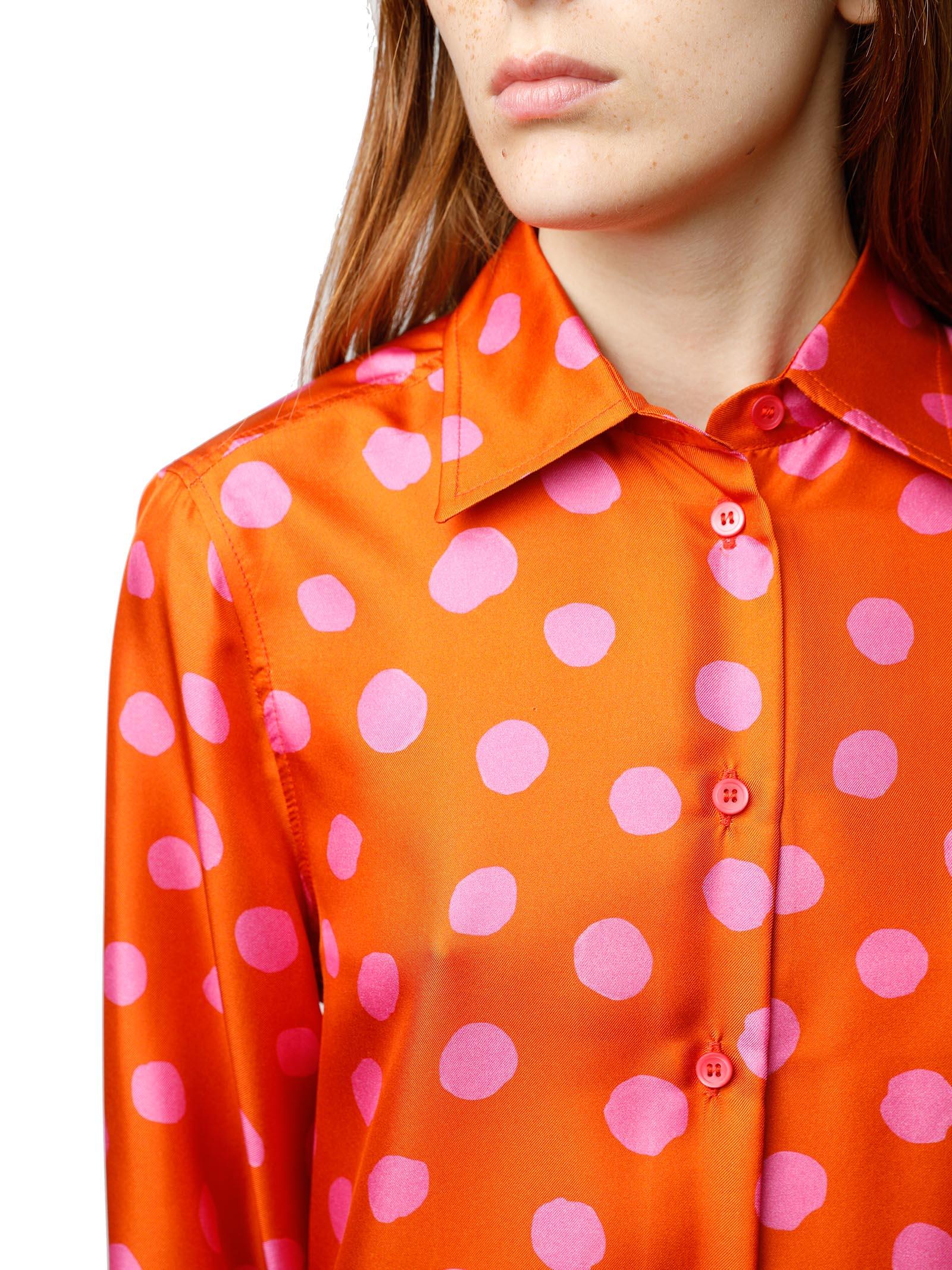 Abbigliamento Donna Camicia Silk Twill Tale in Seta Rossa e Rosa a Maniche Lunghe Maliparmi   Camicie e Top   JM214430112A3095