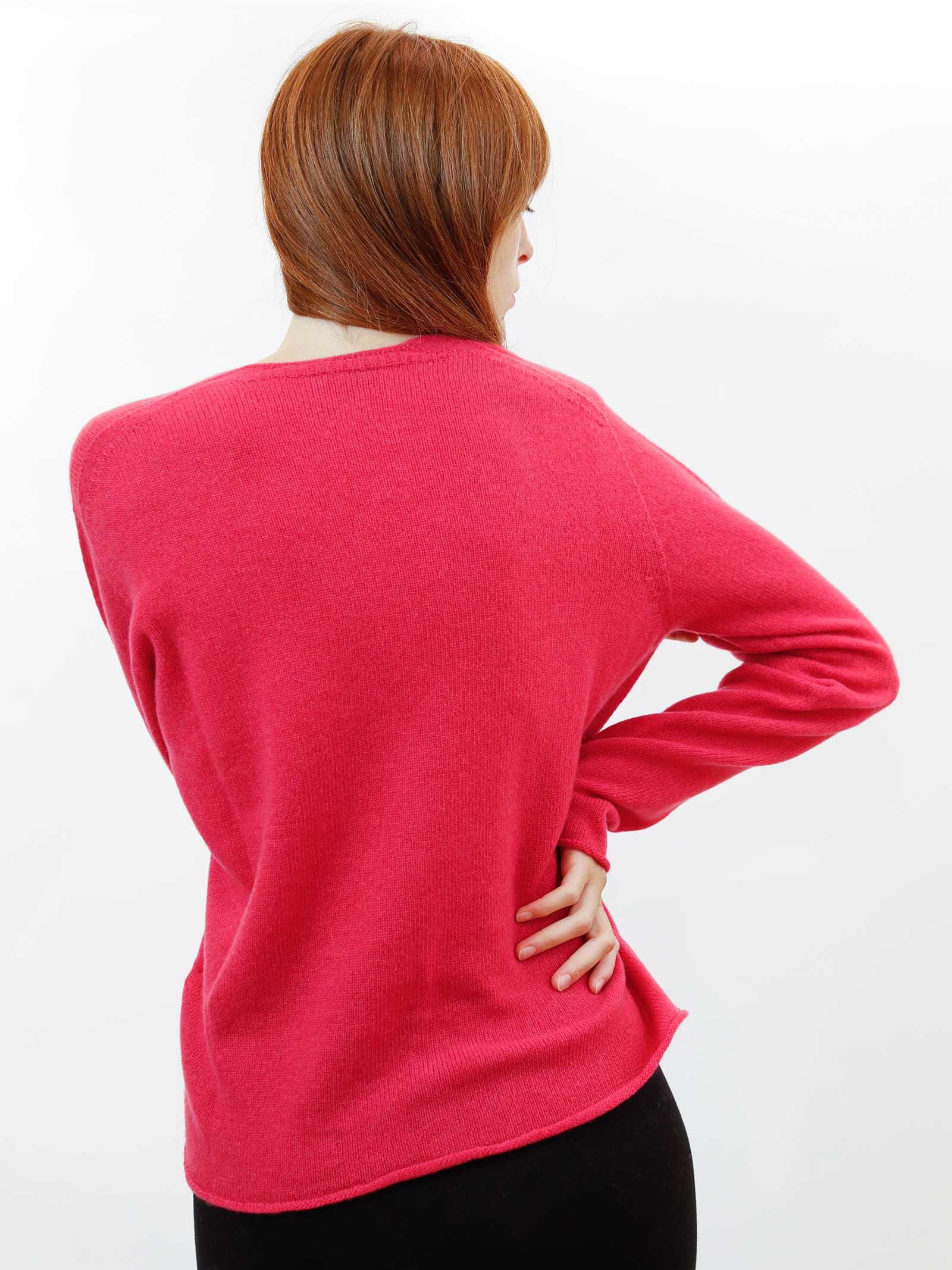 Abbigliameto Donna Cardigan Soft in Cashemire Rosso con Bottoncini in Tinta Maliparmi   Maglieria   JN35757045734007