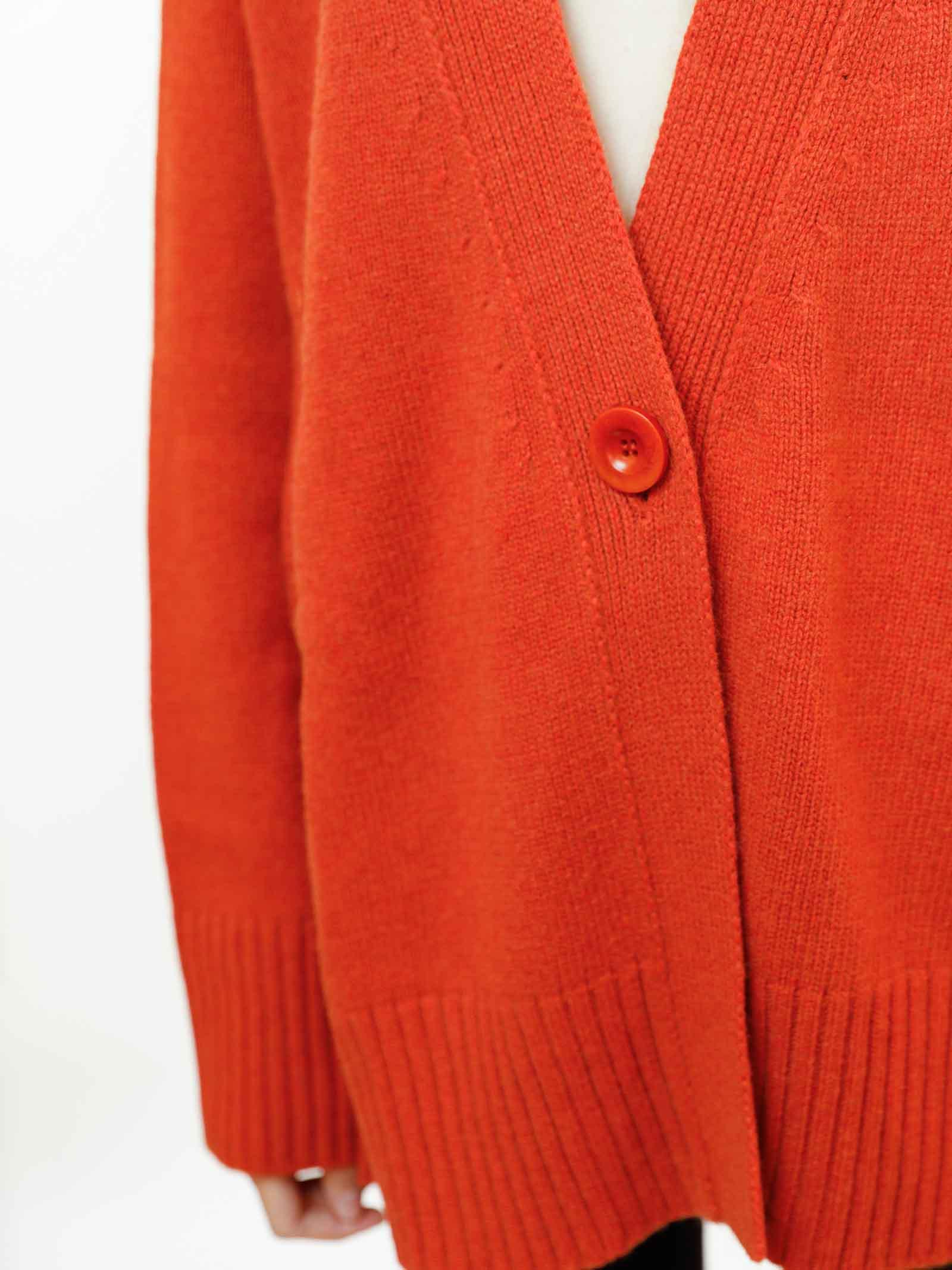 Women's Clothing Maxi Cardigan in Rusty Cashmere with Matching Buttons Maliparmi   Knitwear   JN35797431531038