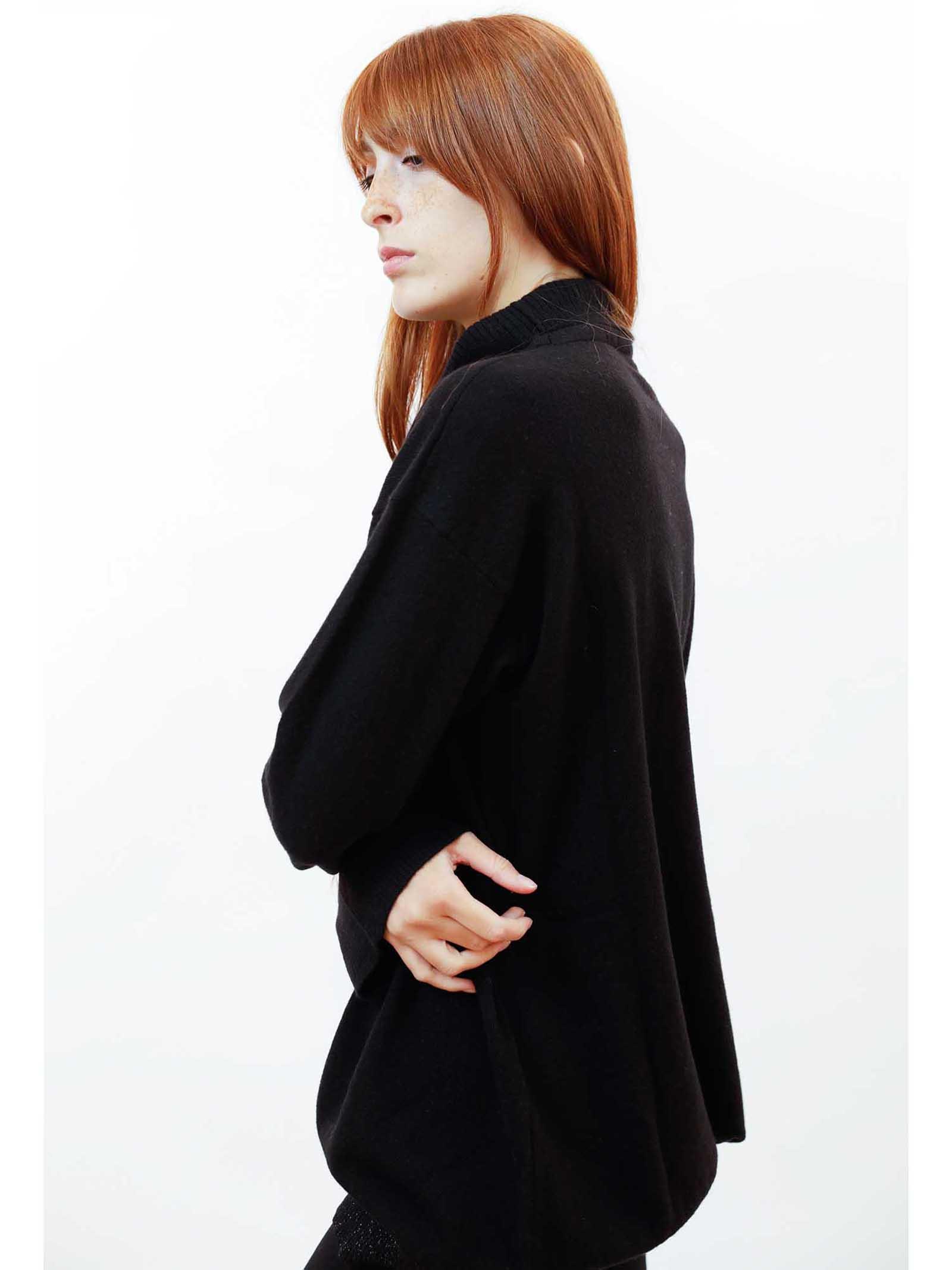Women's Clothing Soft Cashmere Sweater in Black and Luerx Turtleneck Maliparmi | Knitwear | JQ49027052320000