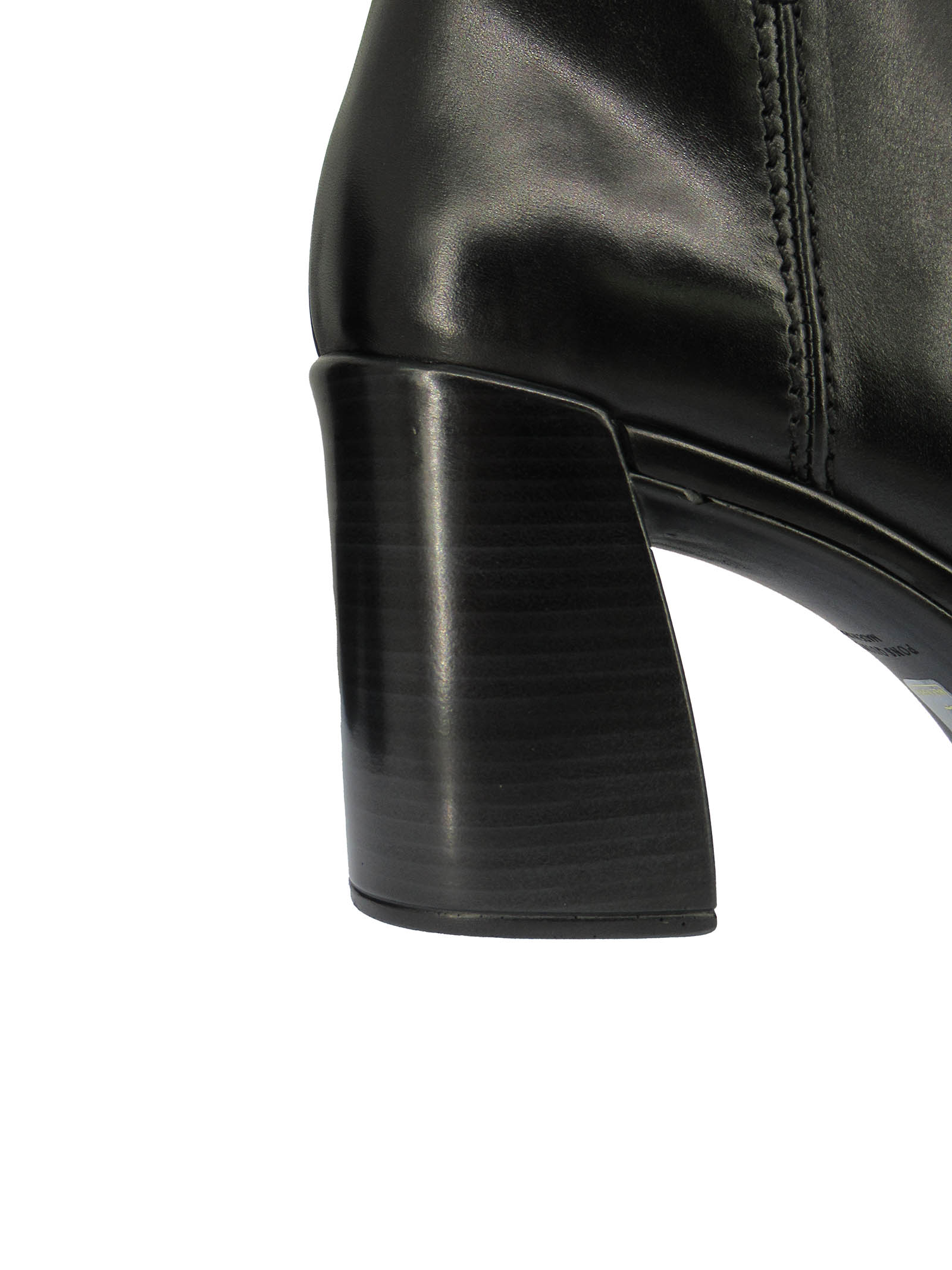 Women's Shoes Ankle Boots in Black Leather with Lateral Zip and High Heel and Platform Pons Quintana | Ankle Boots | 9557001